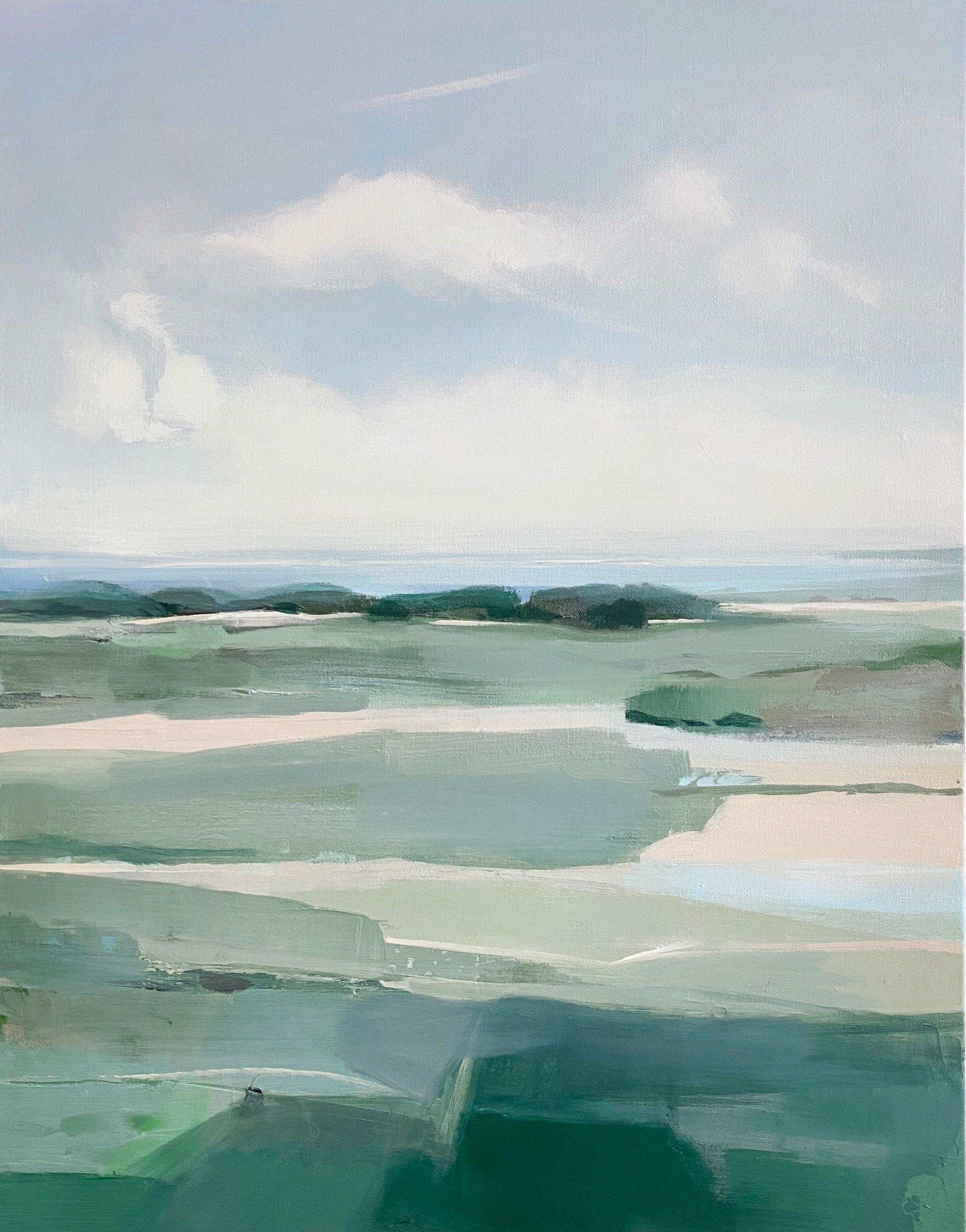 Ocean and Grasses by Hannah Bureau