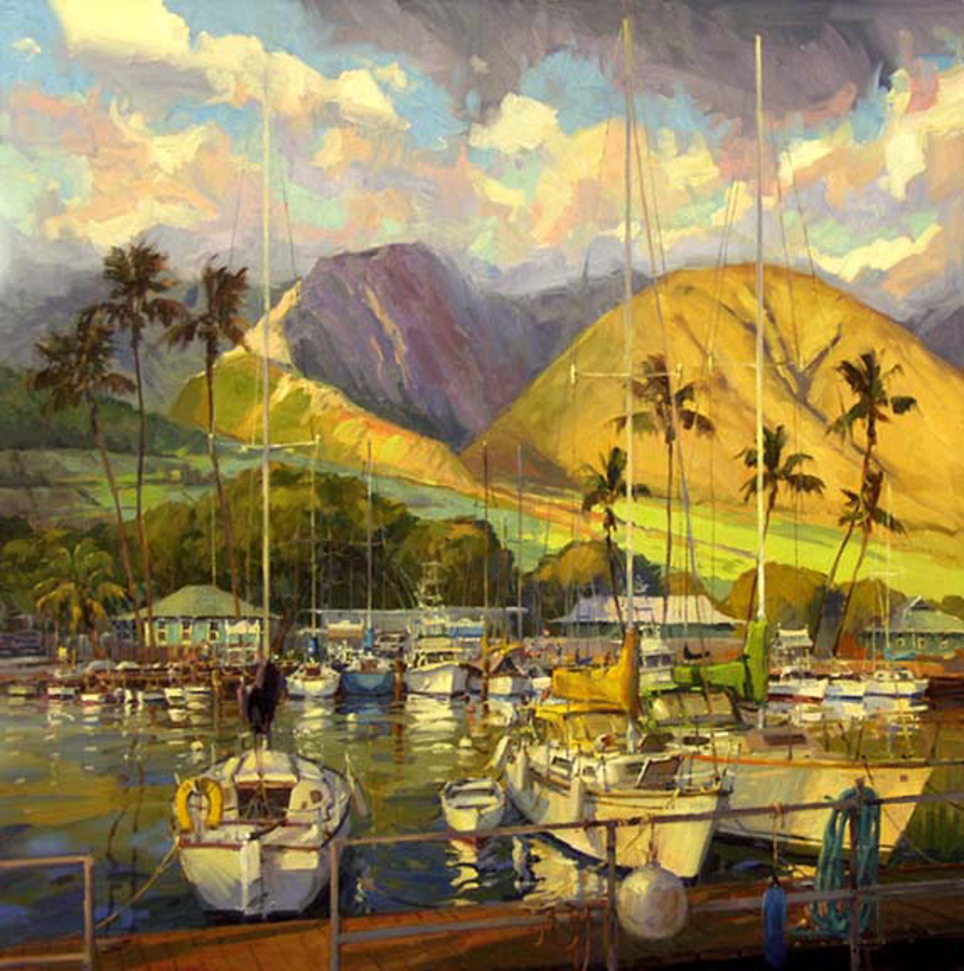 Golden Light On Lahaina Harbor by Ronaldo Macedo