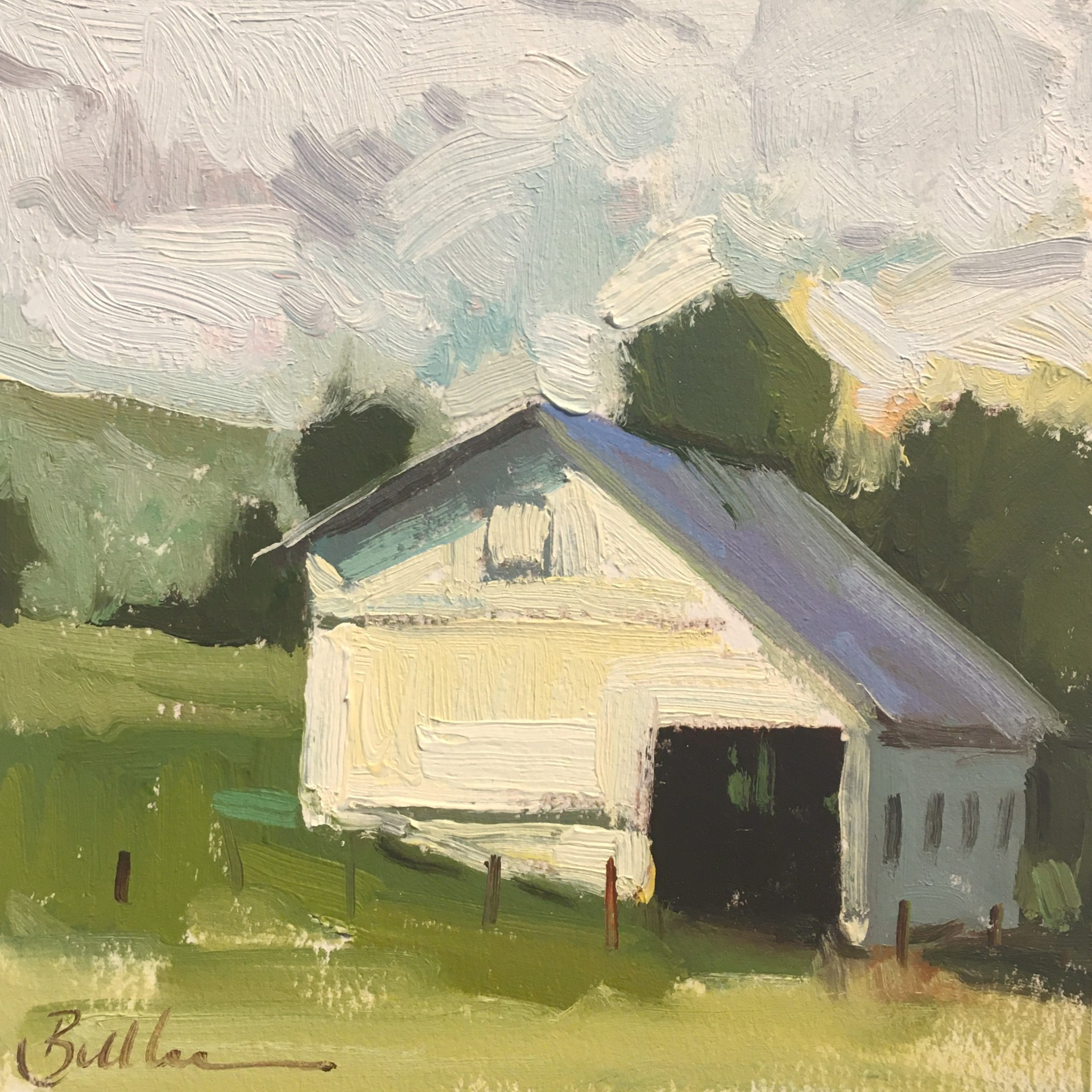 Old White Barn by Samantha Buller