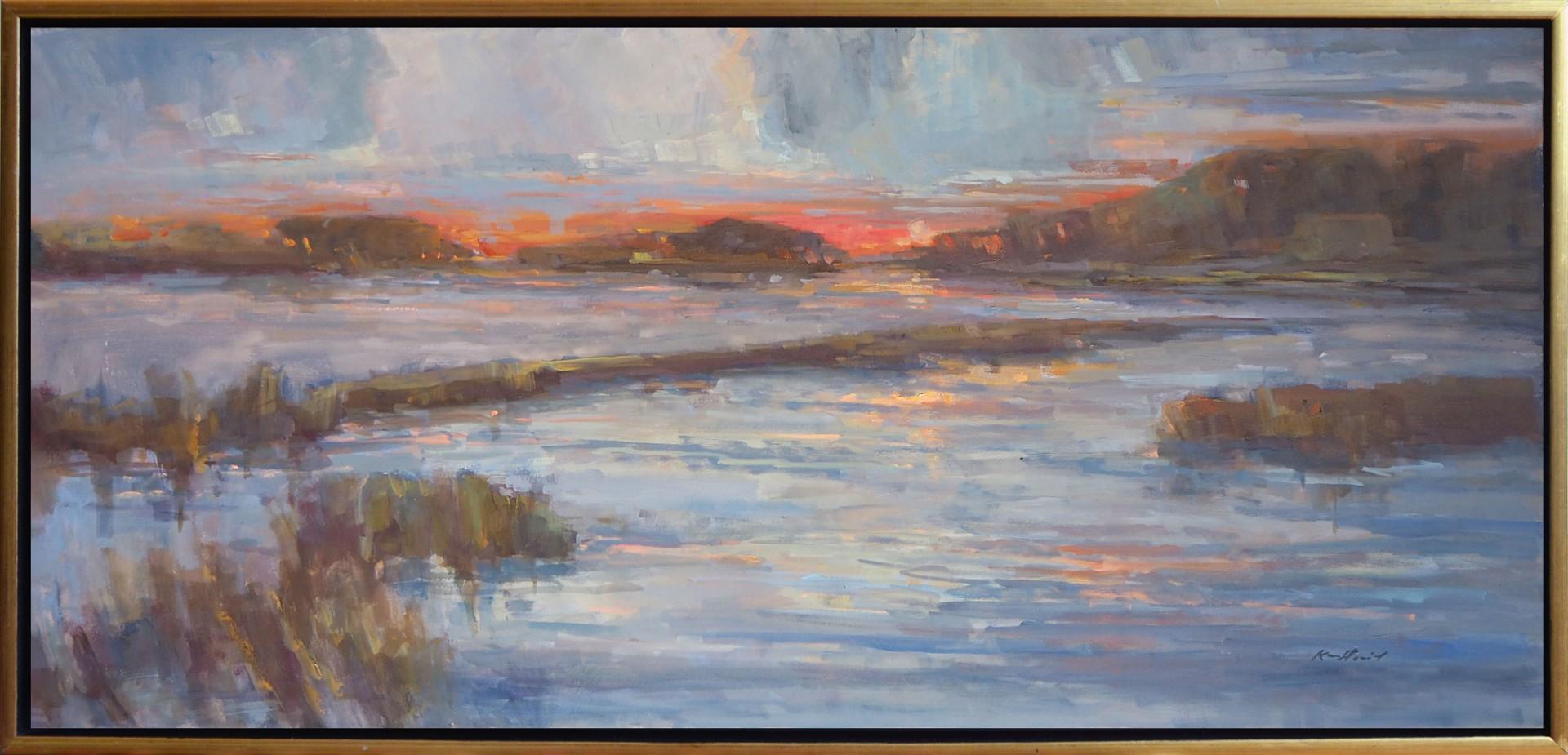 Orange Glow at Sunset by Karen Hewitt Hagan