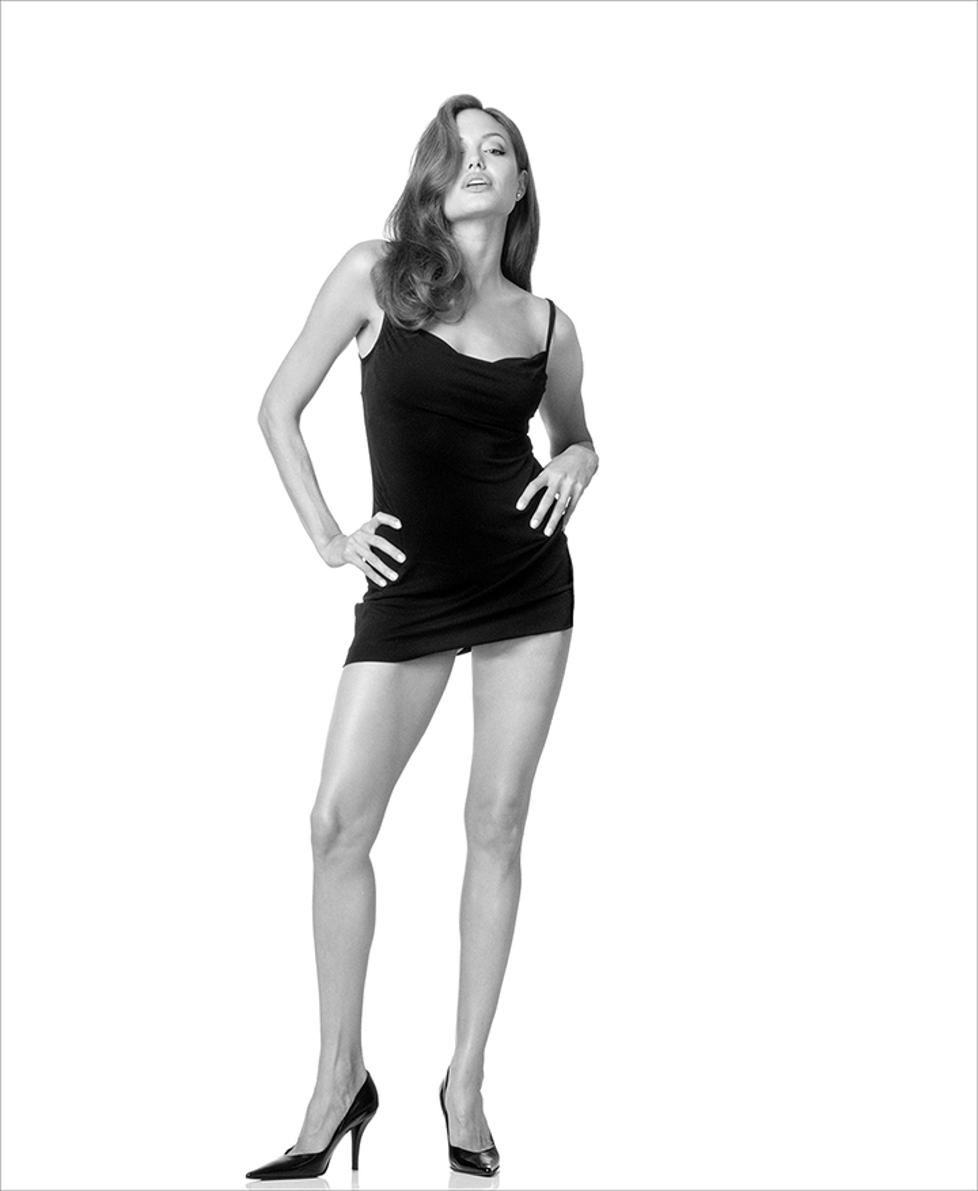 04061 Angelina Jolie BW by Timothy White