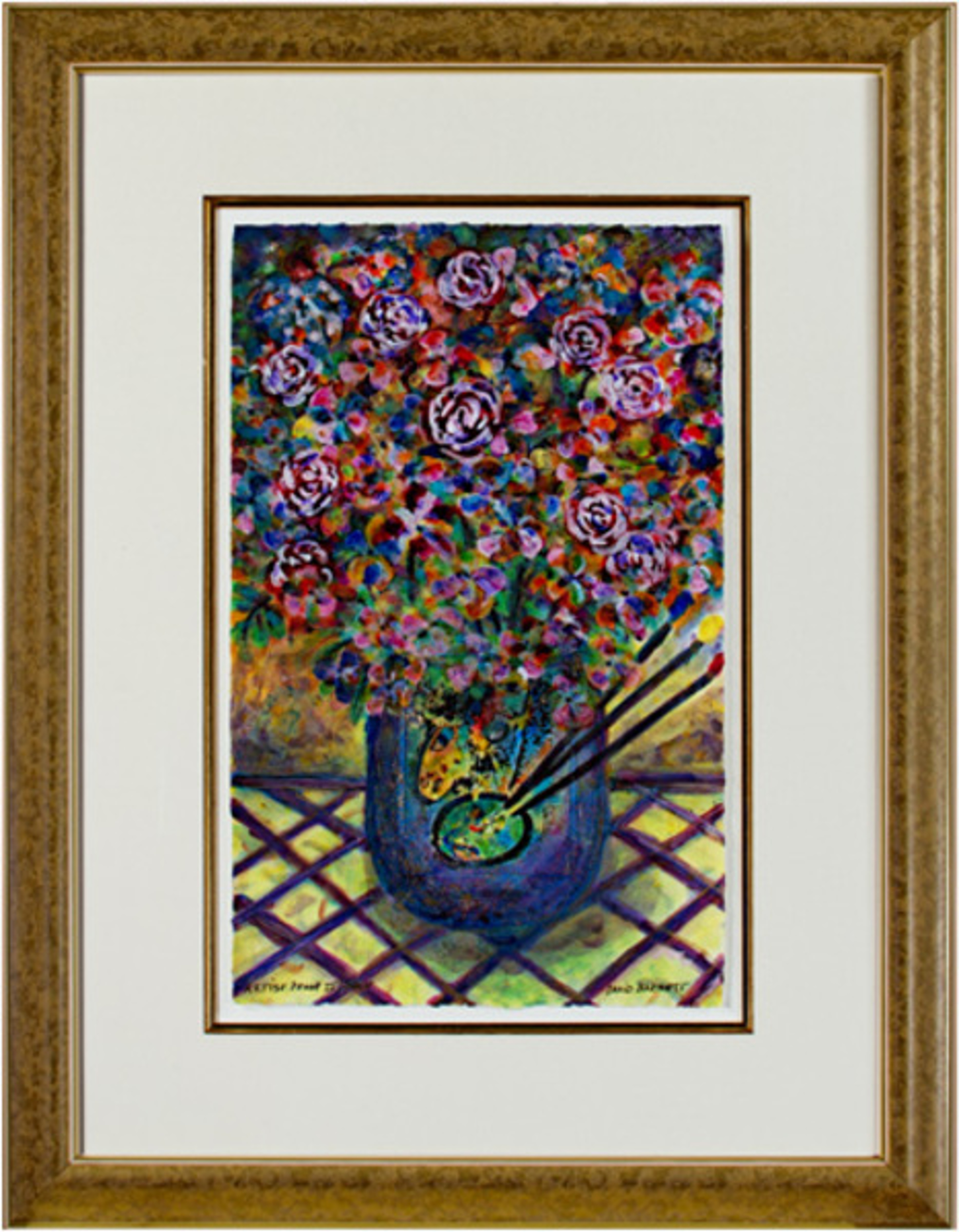Famous Artist Series: Homage to Marc Chagall Artist's Palette Bouquet by David Barnett