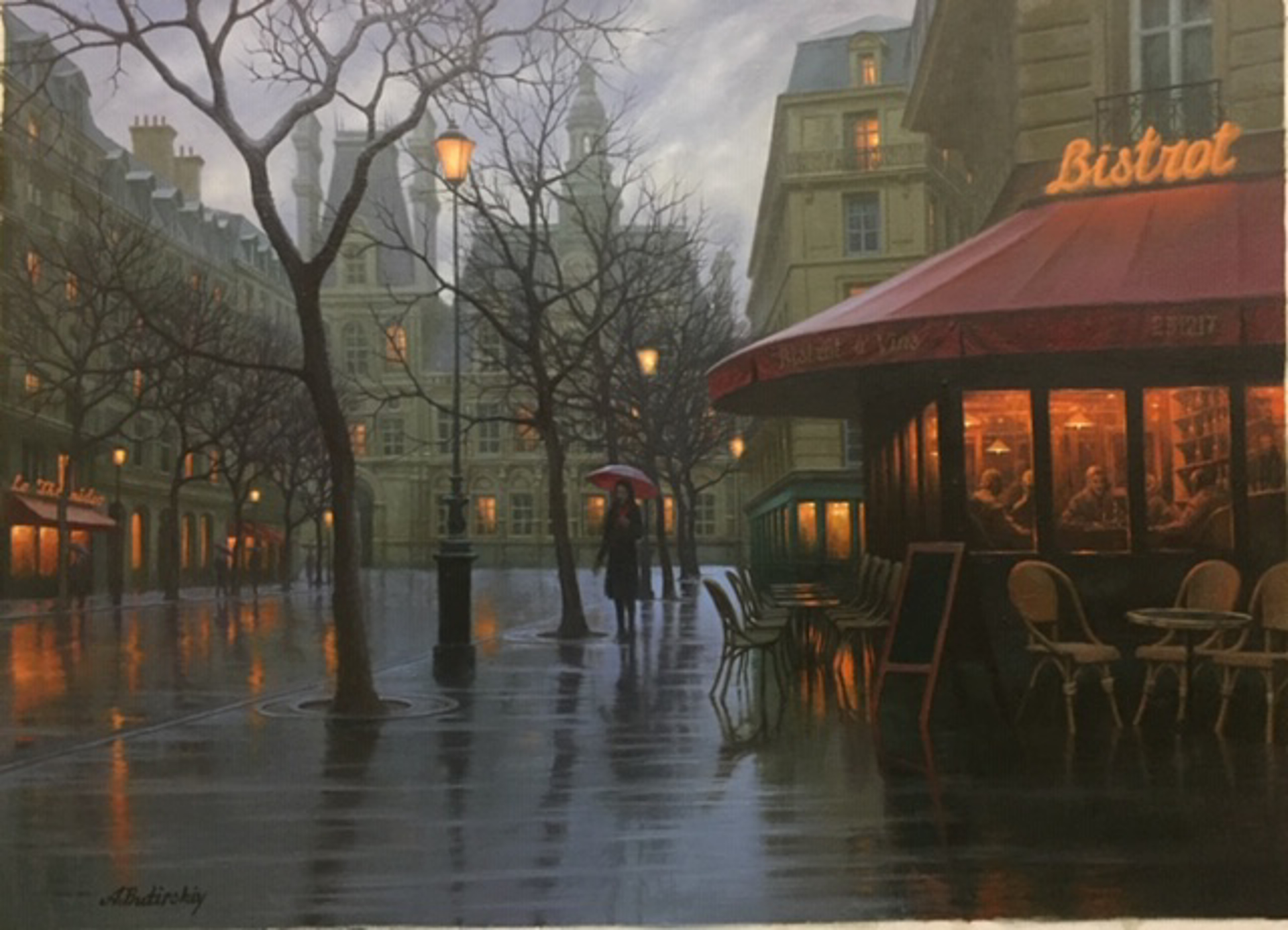 Rainy Day Paris by Alexei Butirskiy