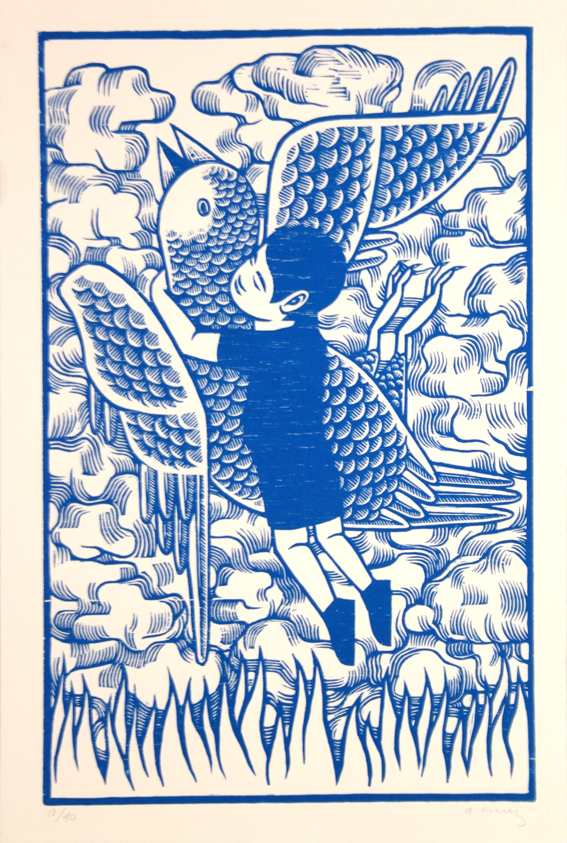 Untitled (Niño con Pajaro Azul) by Alberto Cruz