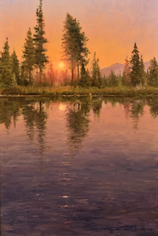 Fiery Sunset by Jim Wilcox