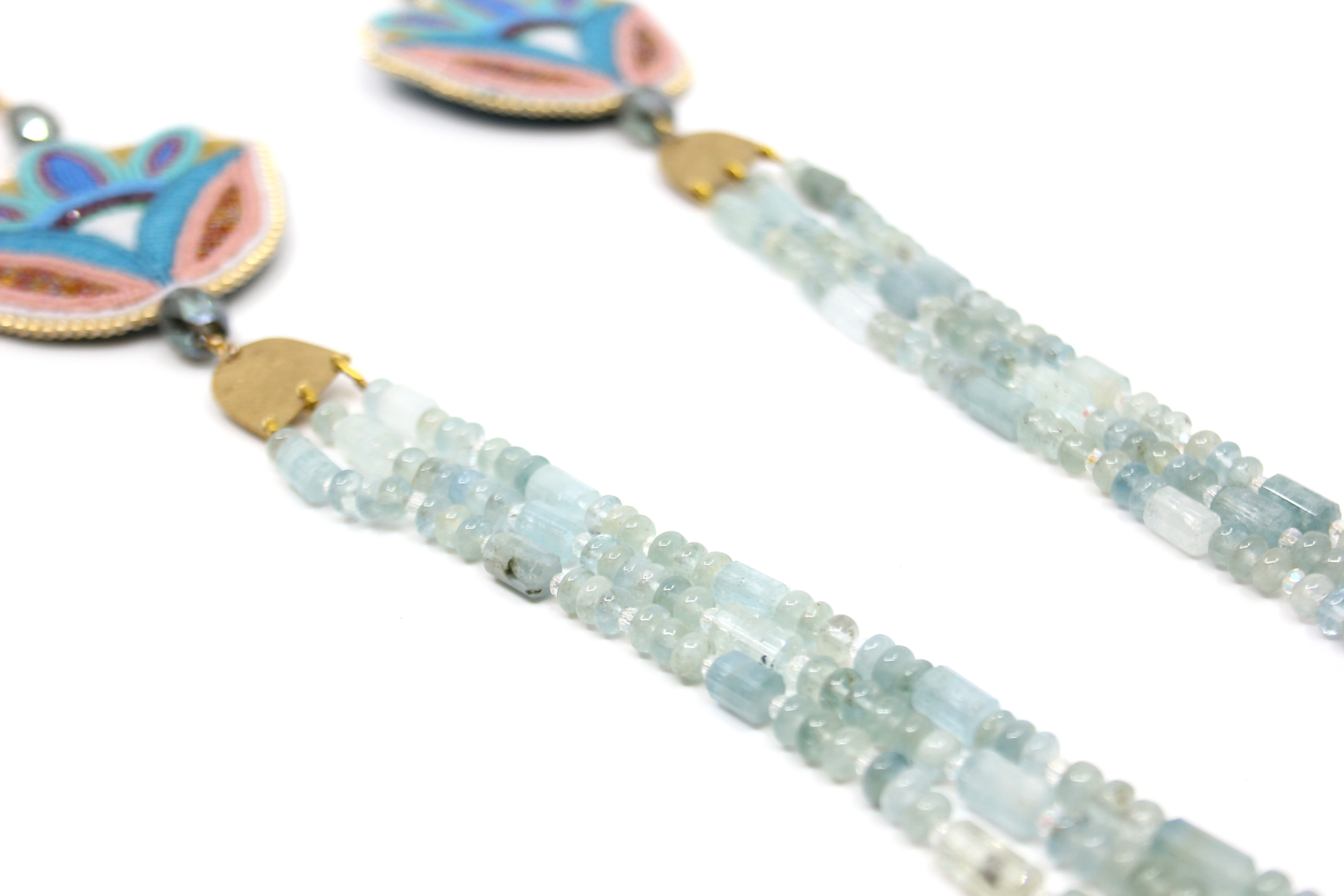 Aquamarine Necklace by Hollis Chitto