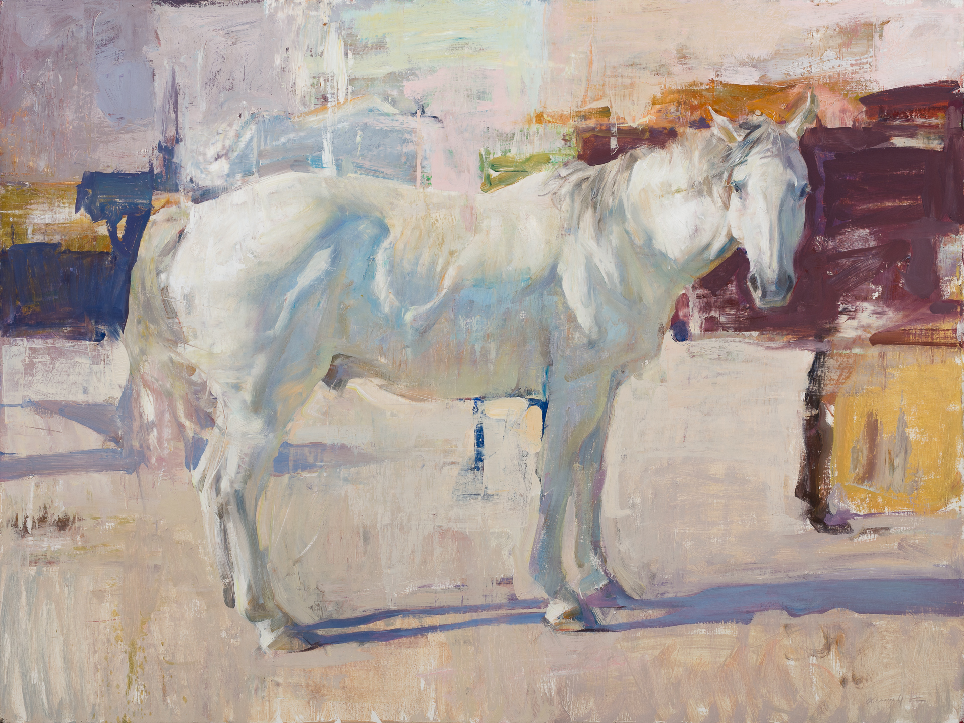 White Horse with Abstraction by Quang Ho