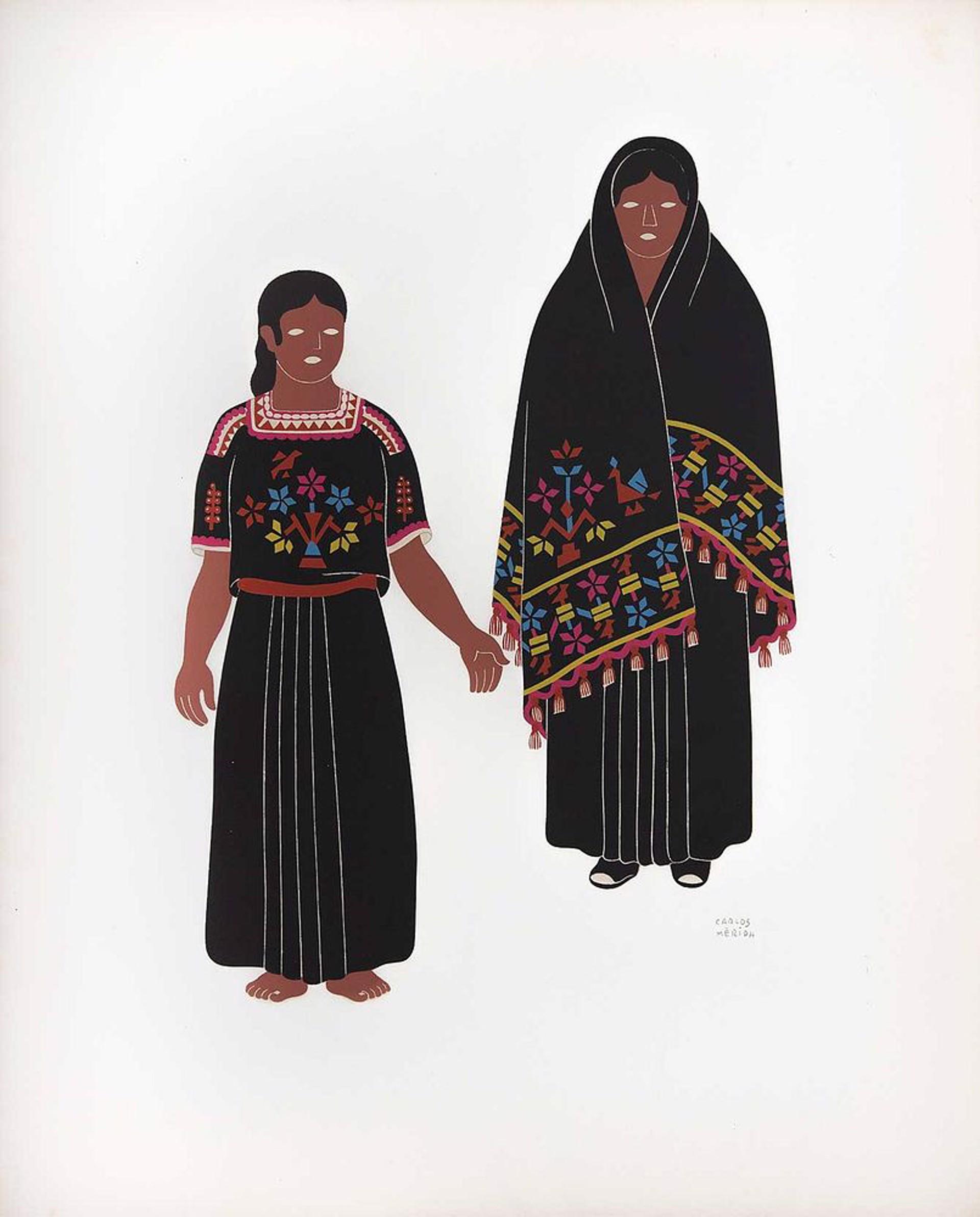 Hueyapan of the State of Puebla by Carlos Mérida (1891 - 1985)