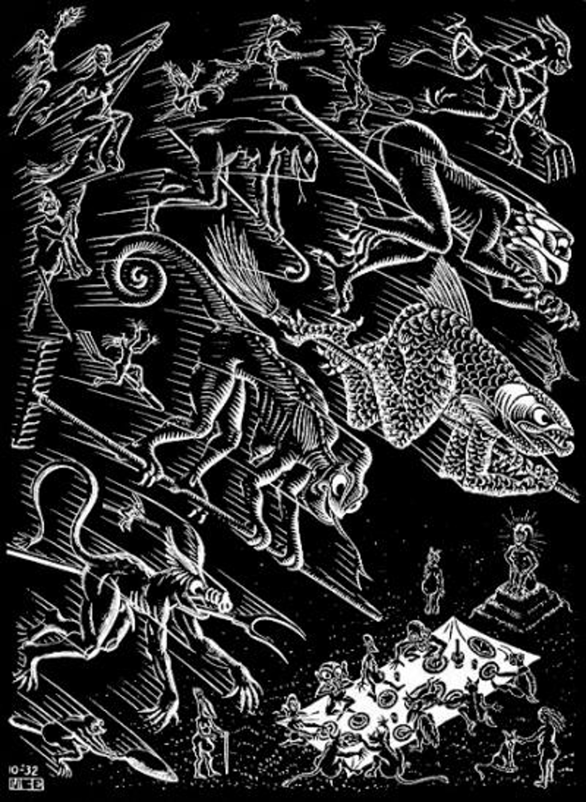 Scholastica (Last Night) by M.C. Escher