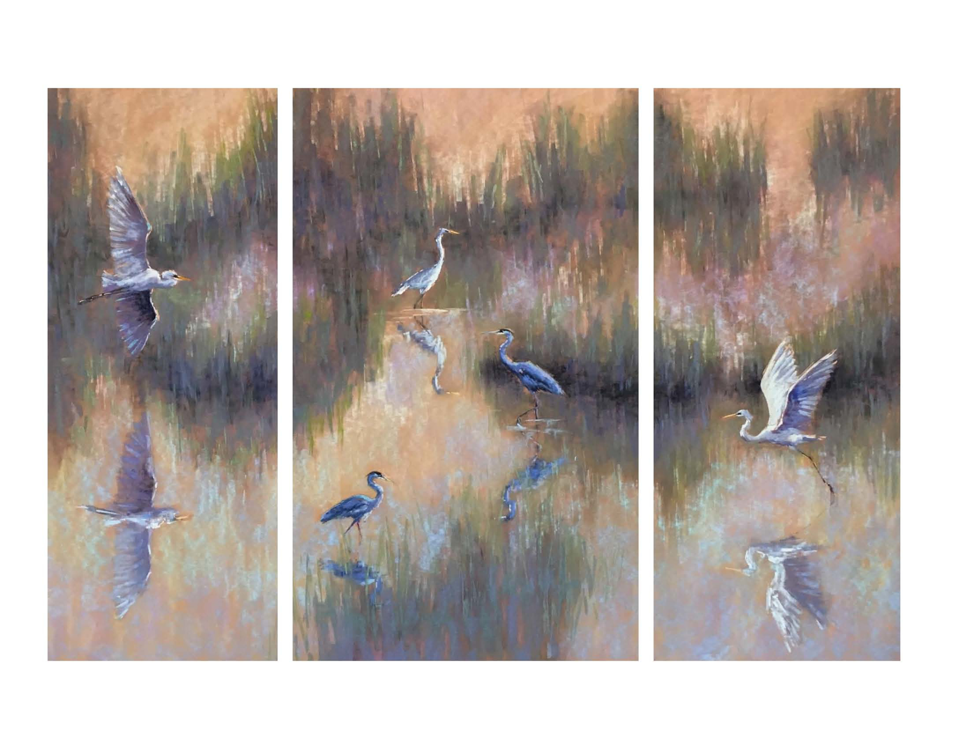 New Beginnings, Triptych by Cecilia Murray