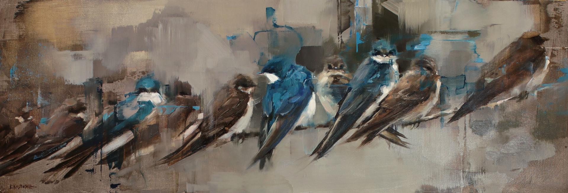 A Flight of Swallows by Lindsey Kustusch