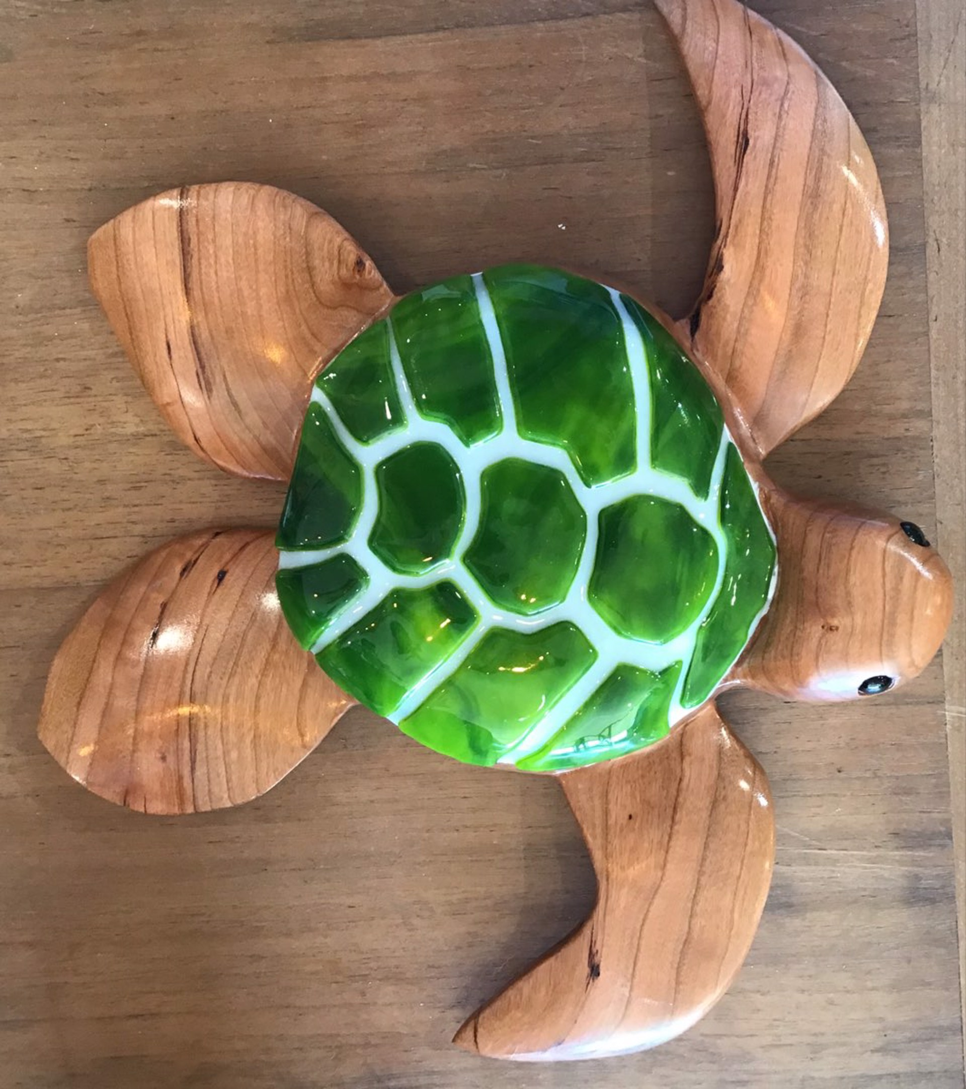 "6"" Turtle w/fused glass by Jim Smith"