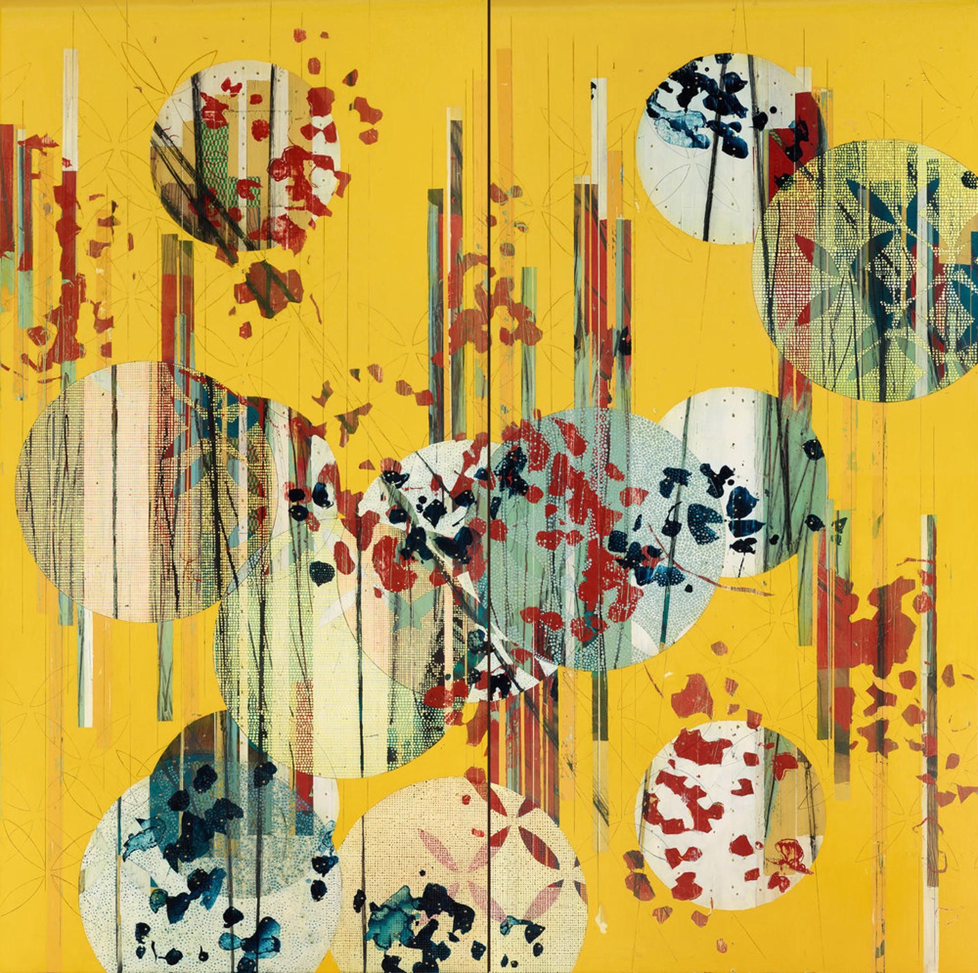 Botanical with Bands and Lanterns / Aspen by Nina Tichava
