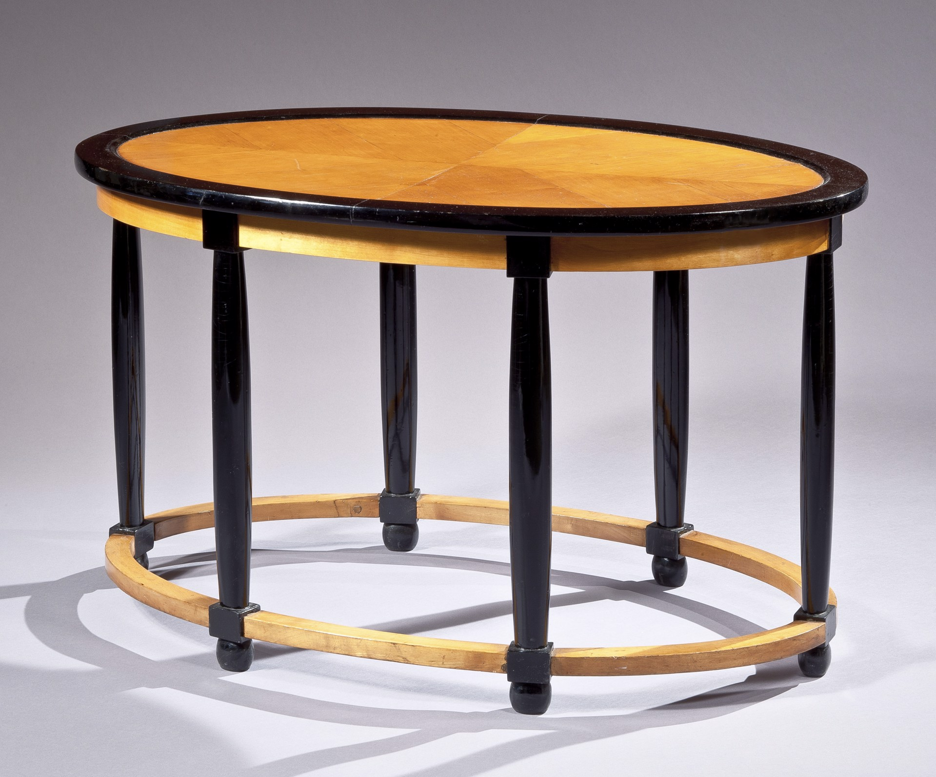 PART-EBONIZED SYCAMORE LOW TABLE BY ANDRE GROULT by Andre Groult