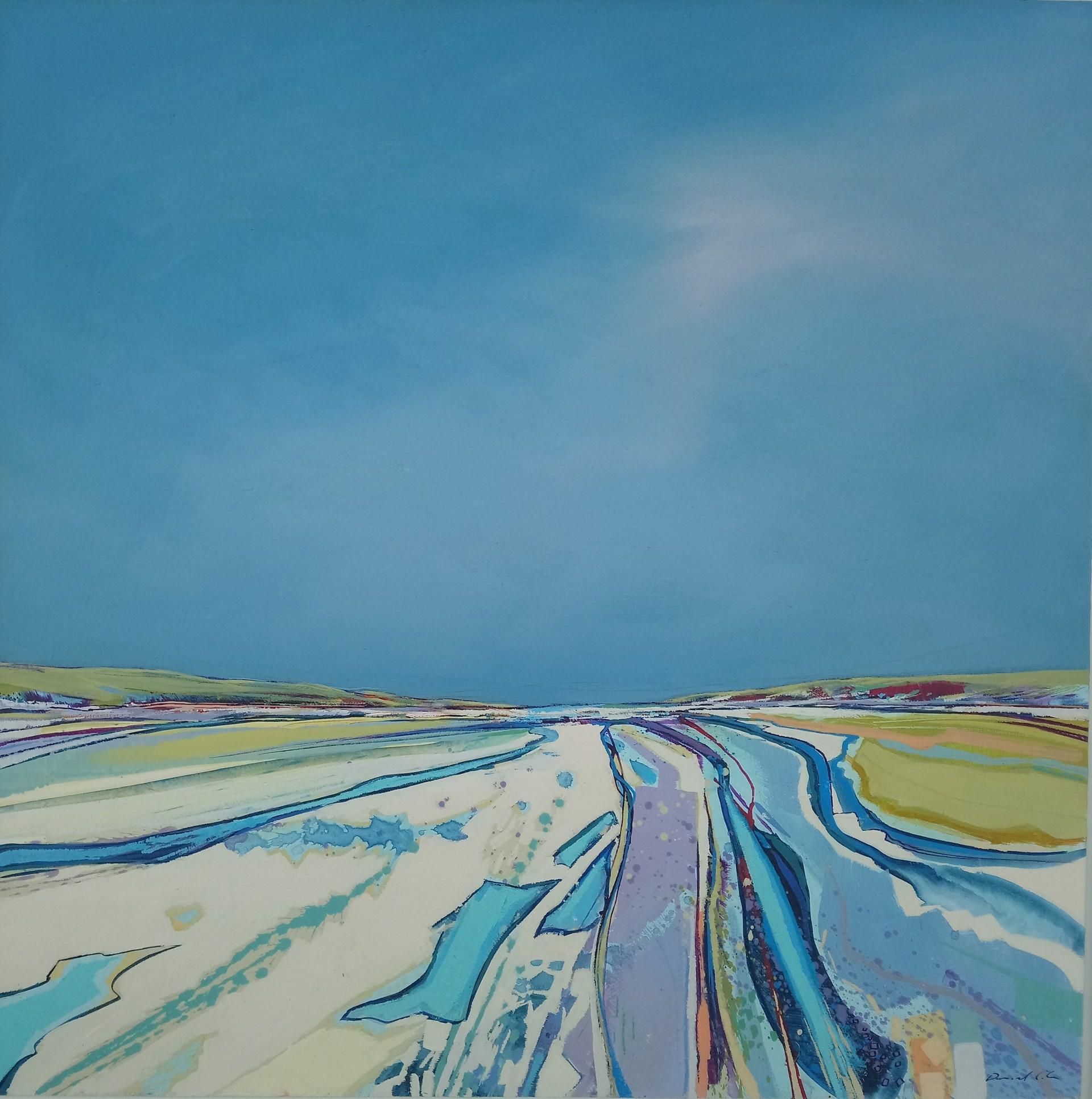 Watermarks and Sandlines, Holkam Beach, Norfolk by Daniel Cole