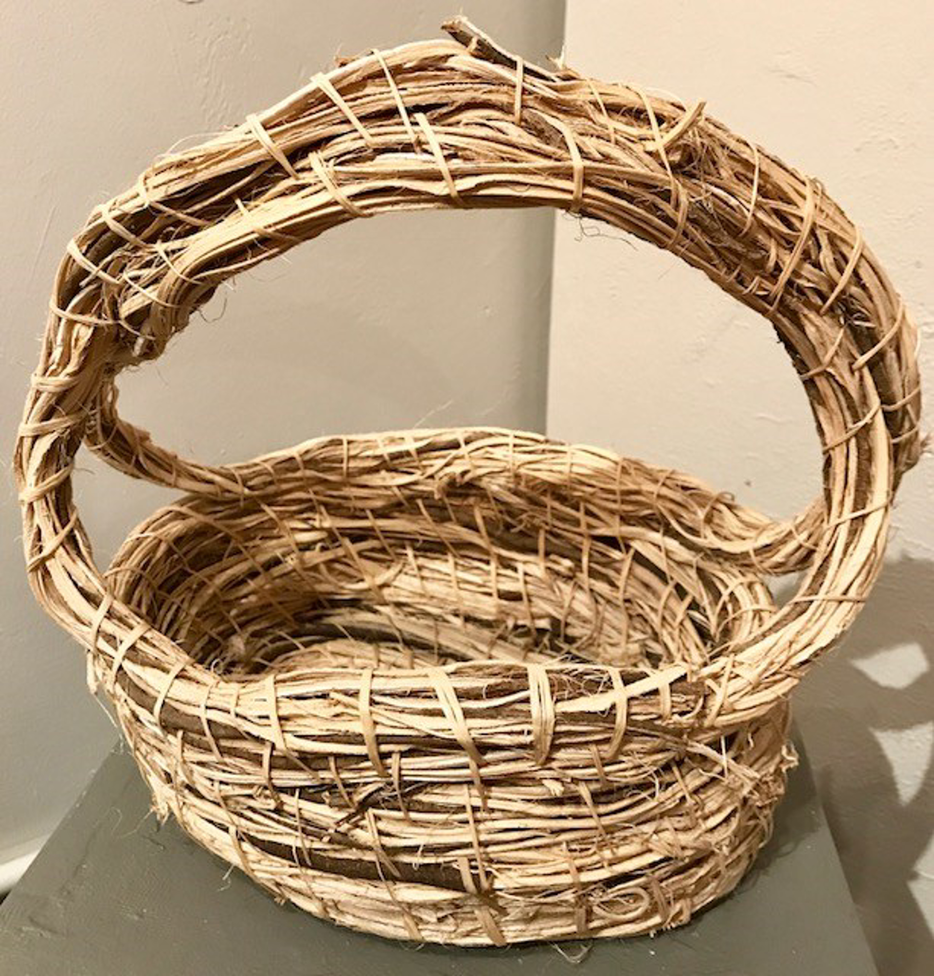 Double Handle Kudze Basket Large by Nancy Basket