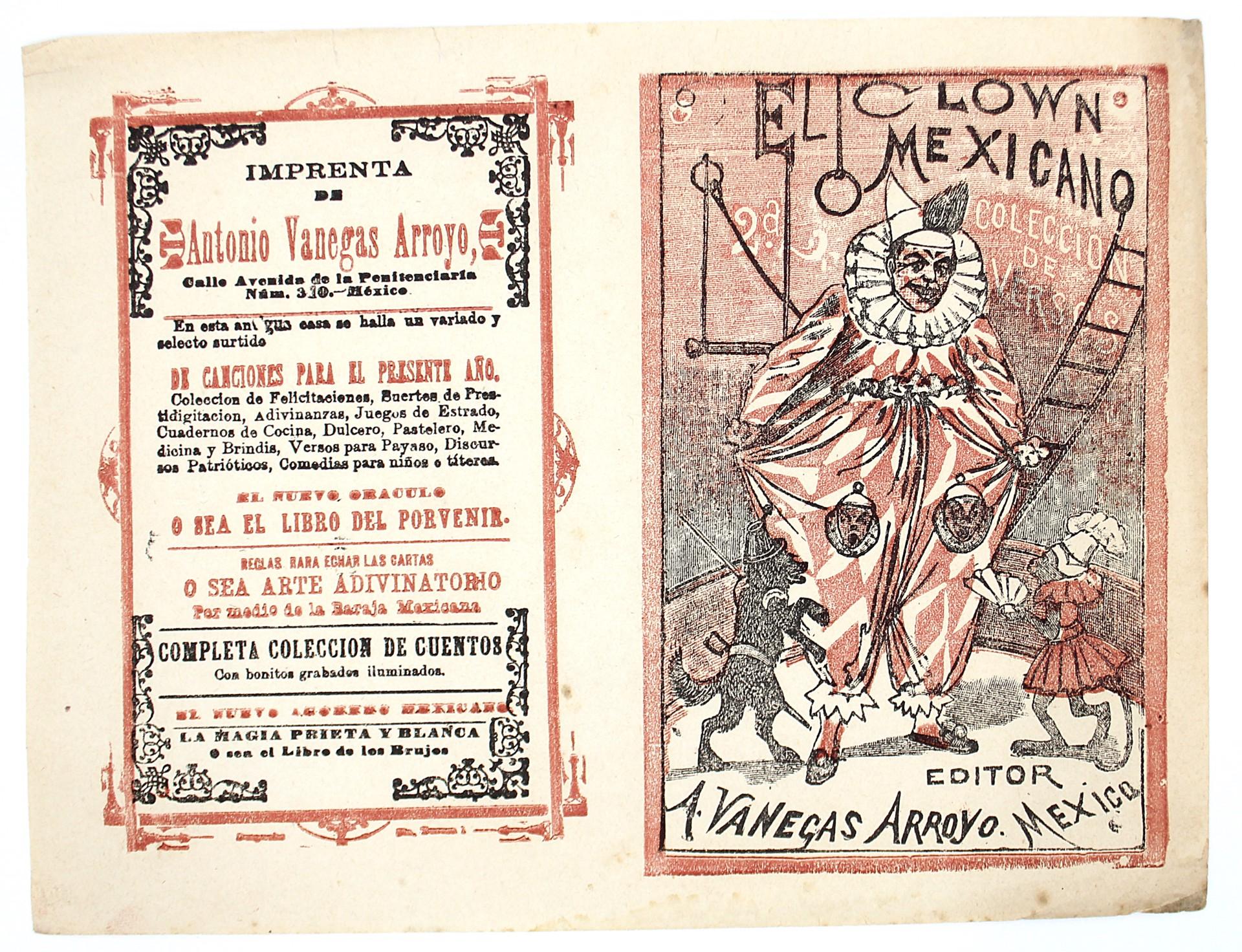 El Clown Mexicano, Colección de versos, No. 2 by José Guadalupe Posada (1852 - 1913)