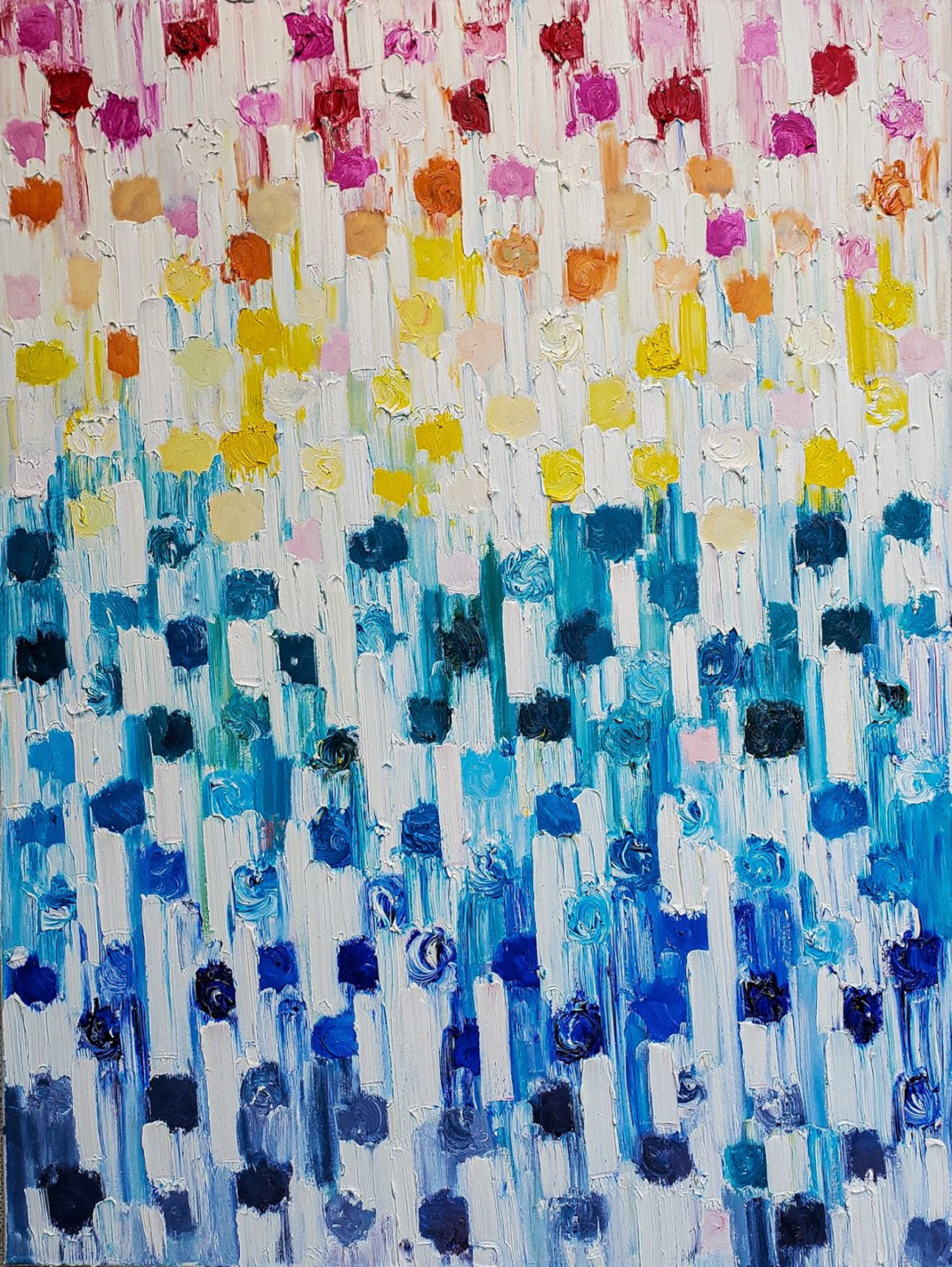 Dripping Dots - Rainbow by Cindy Shaoul