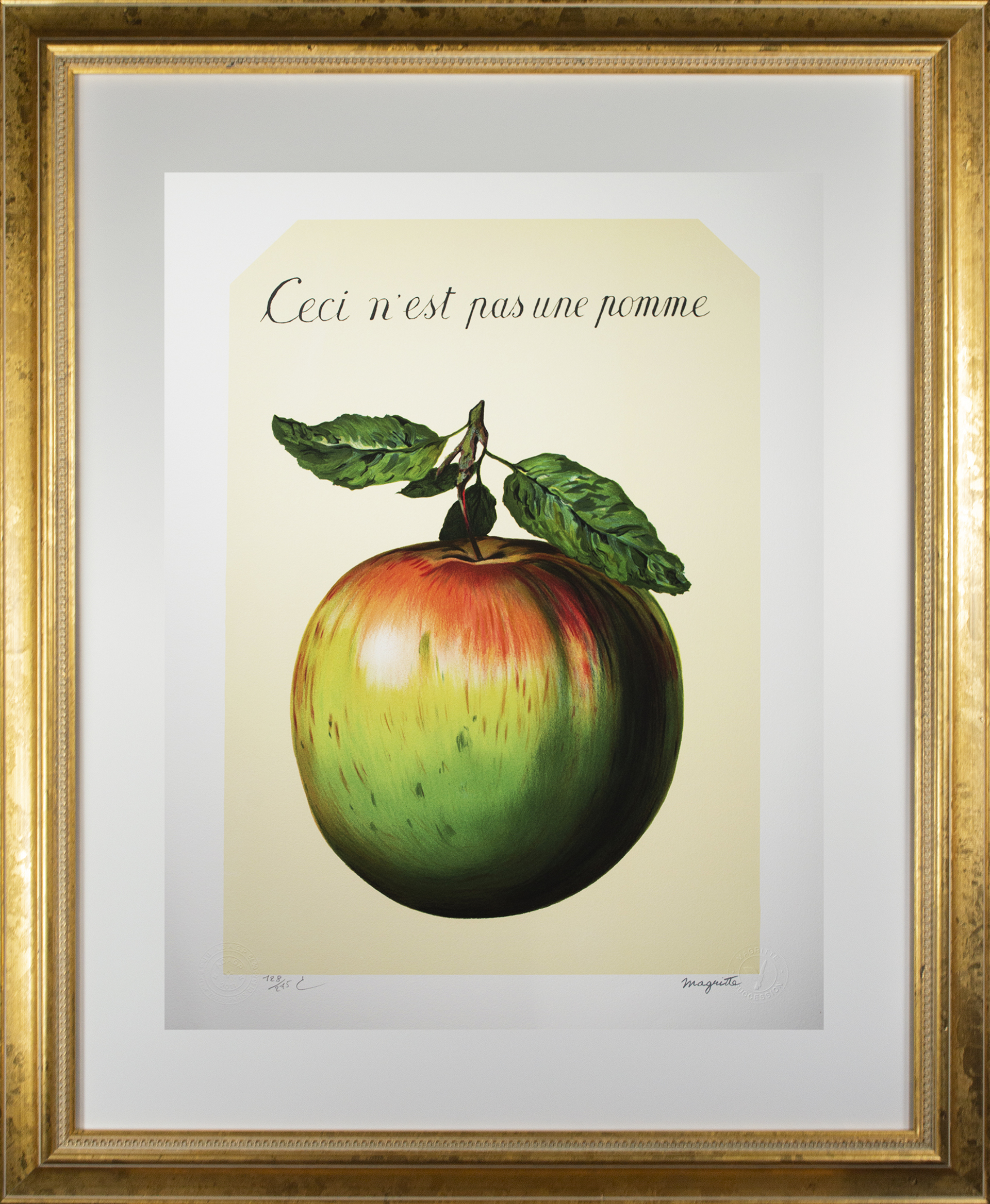 Ceci n'est pas une pomme (This is Not an Apple) by Rene Magritte