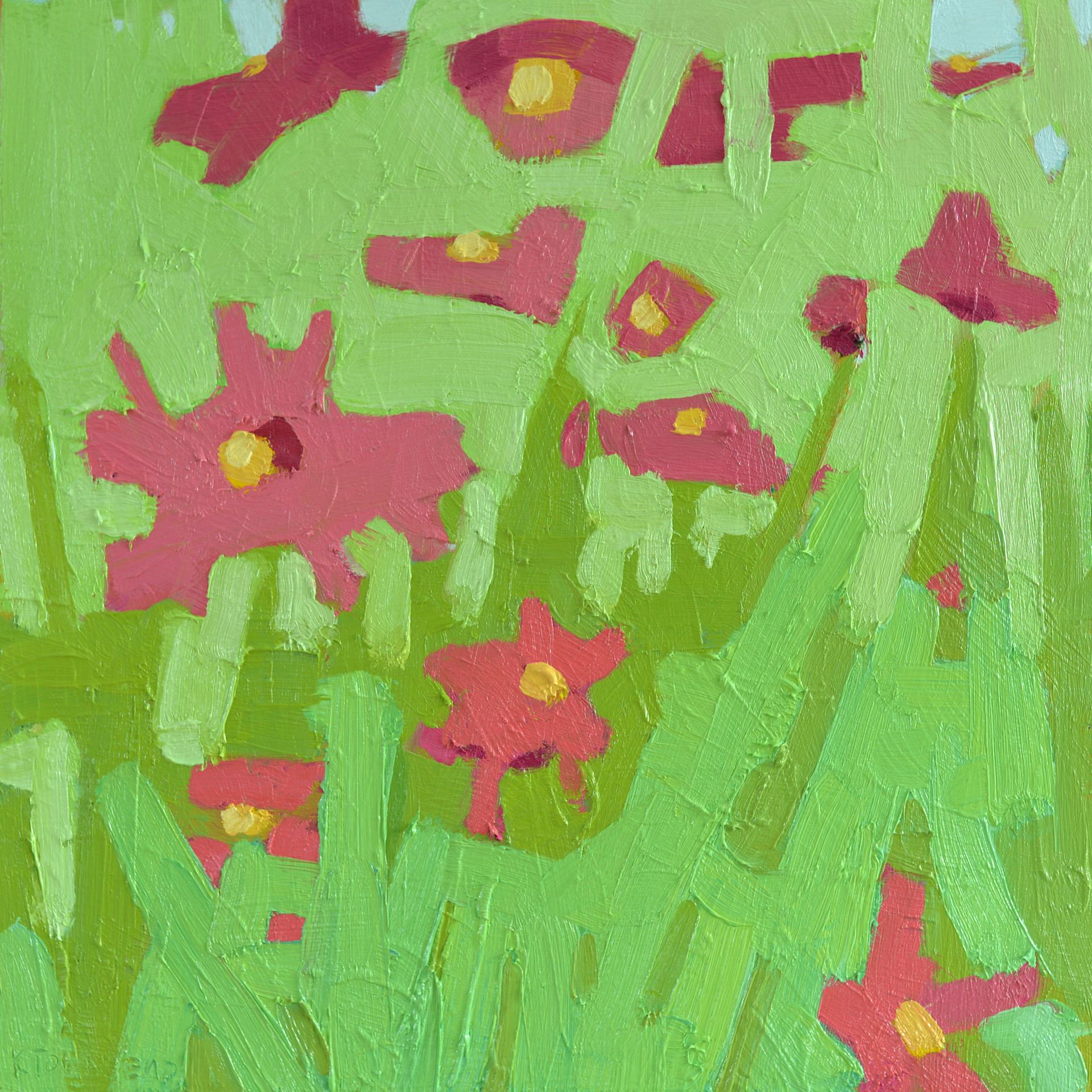 Pink Flower Shapes by Krista Townsend