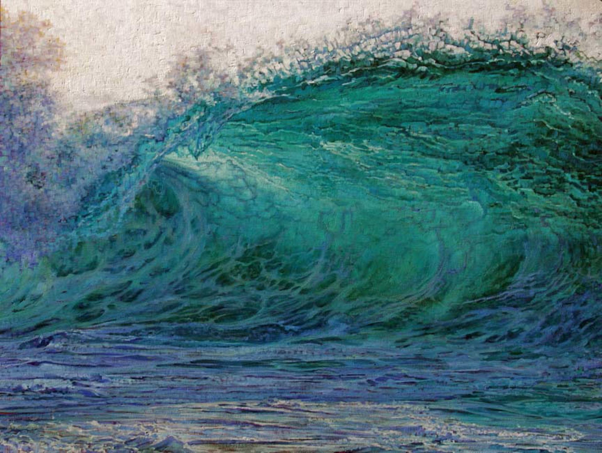 North Shore Blue Wave by Caroline Zimmermann