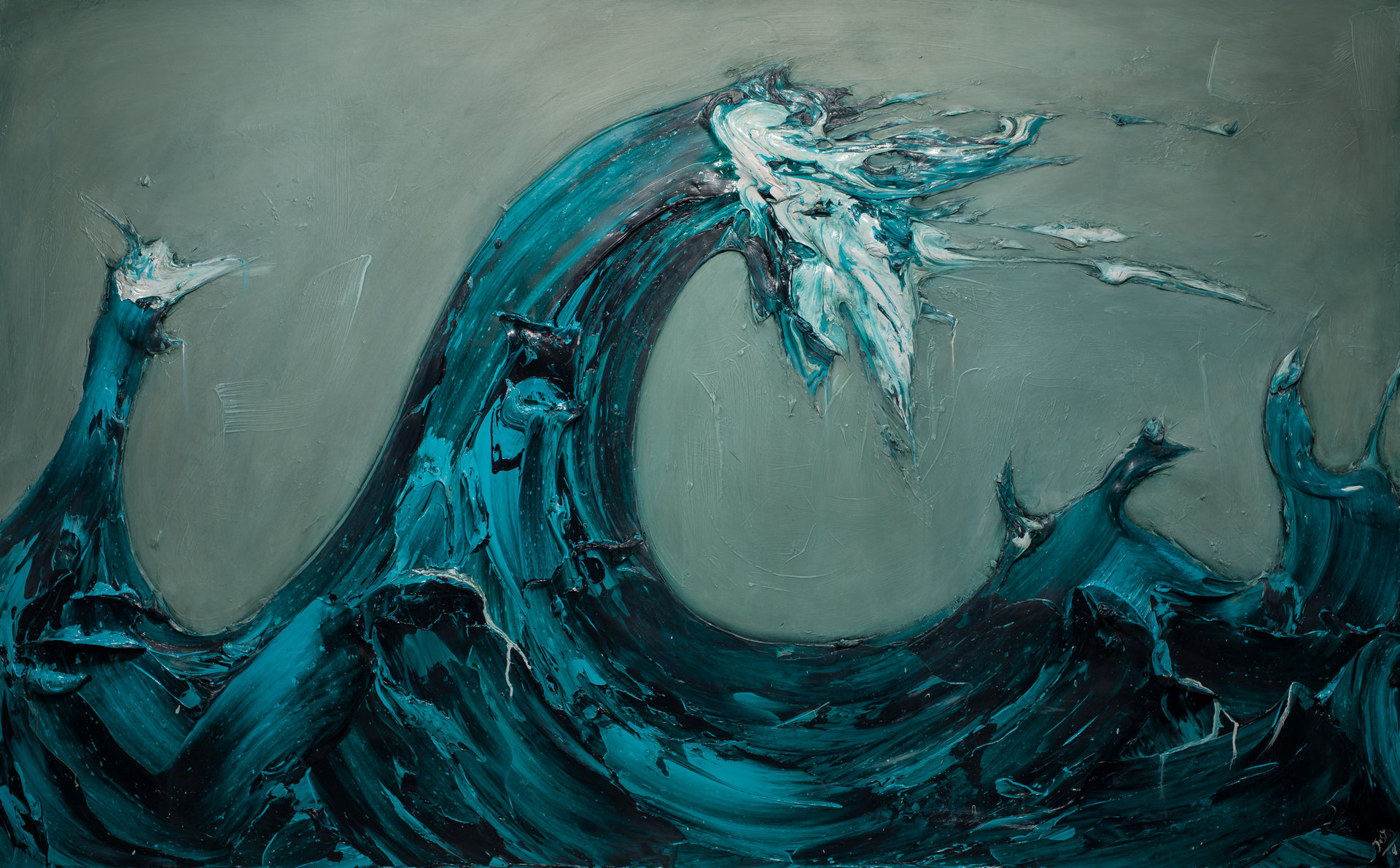 WAVES WV96x60-2018-304 by JUSTIN GAFFREY