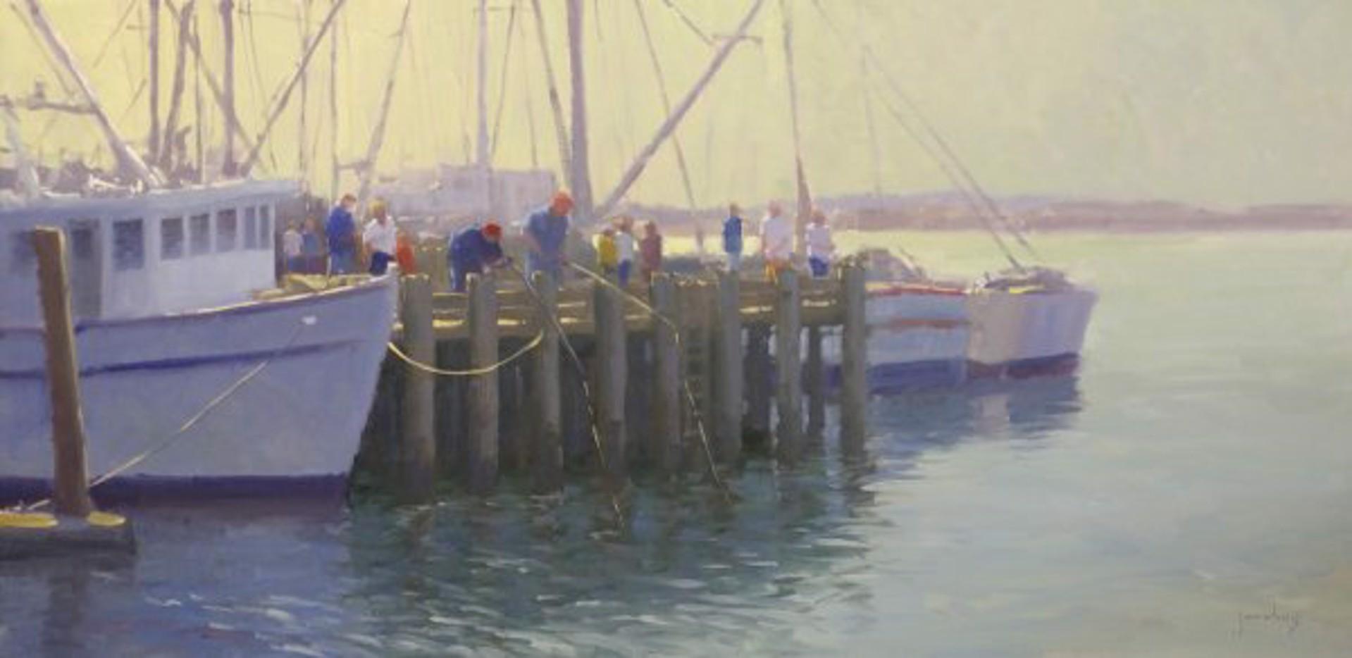 Pier Fishing, Morro Bay by Jacobus Baas
