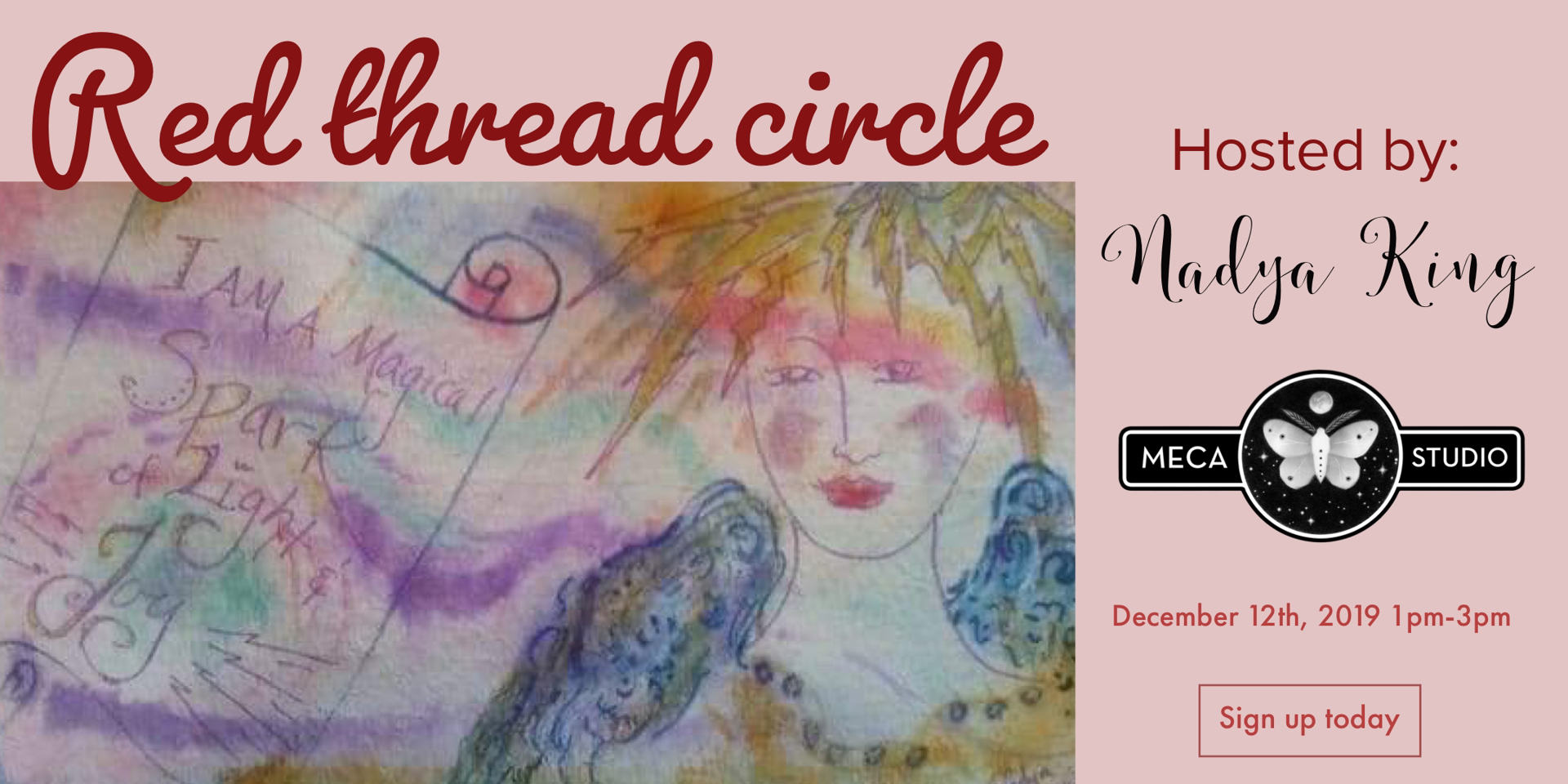 Shine your light - Red thread Women's Circle by Nadya King (McMinnville, OR)