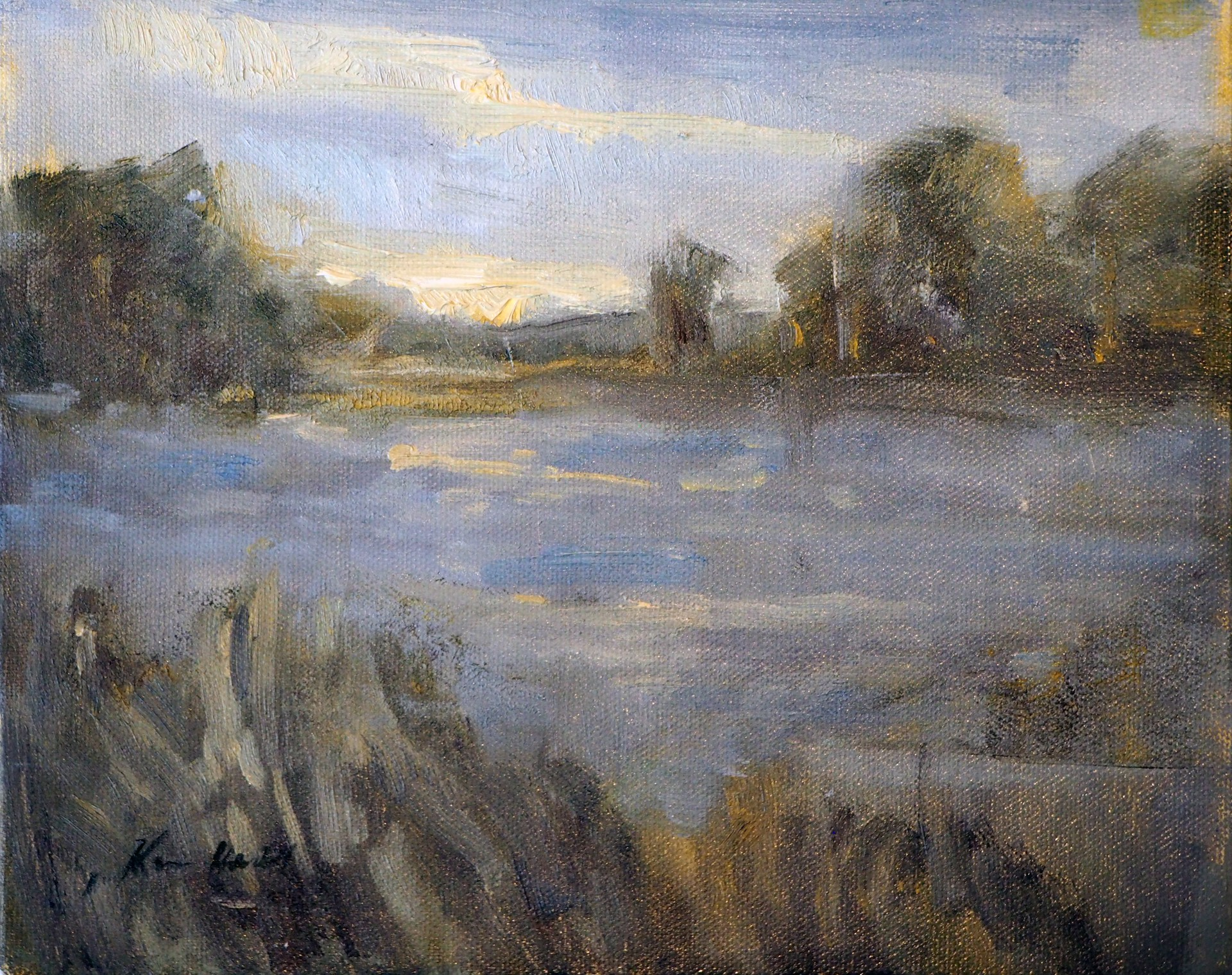 Misty Day on the River by Karen Hewitt Hagan