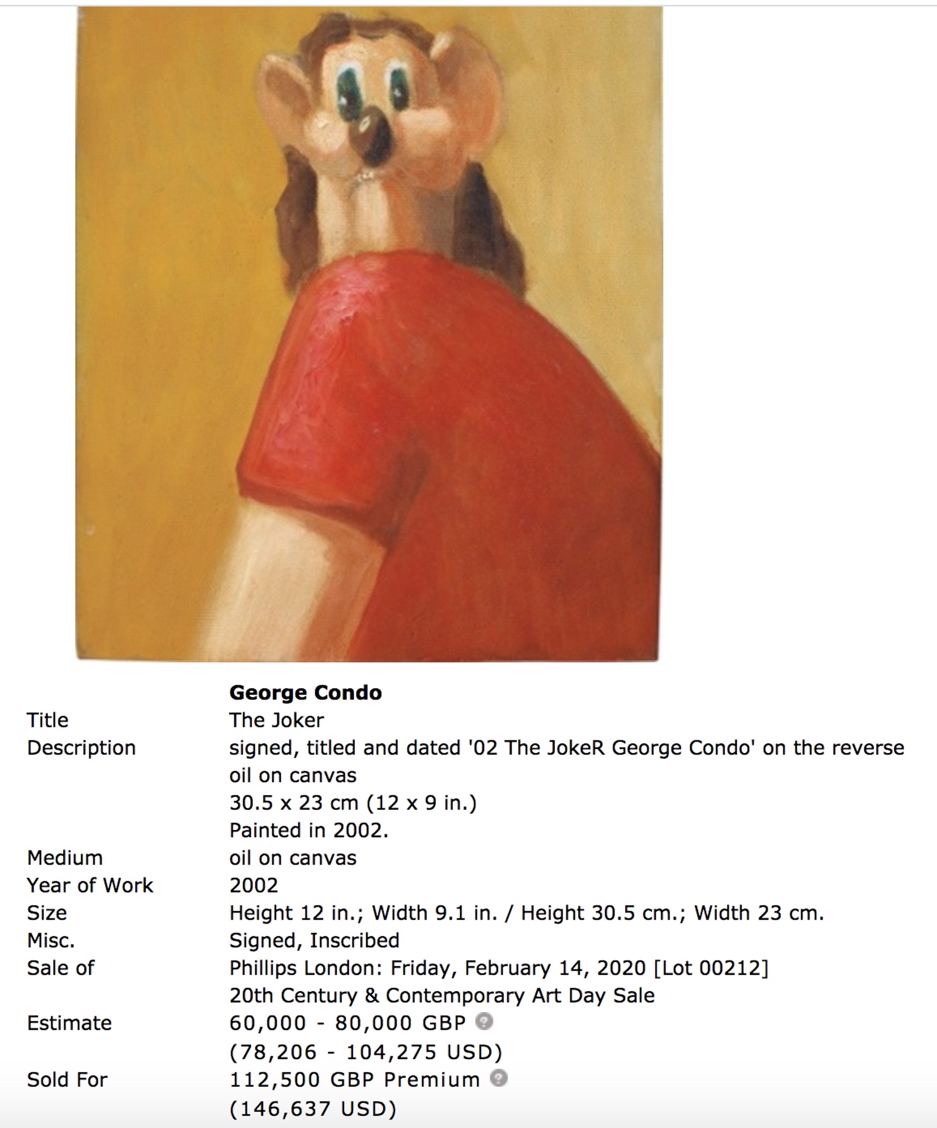 Figure Face Up by George Condo