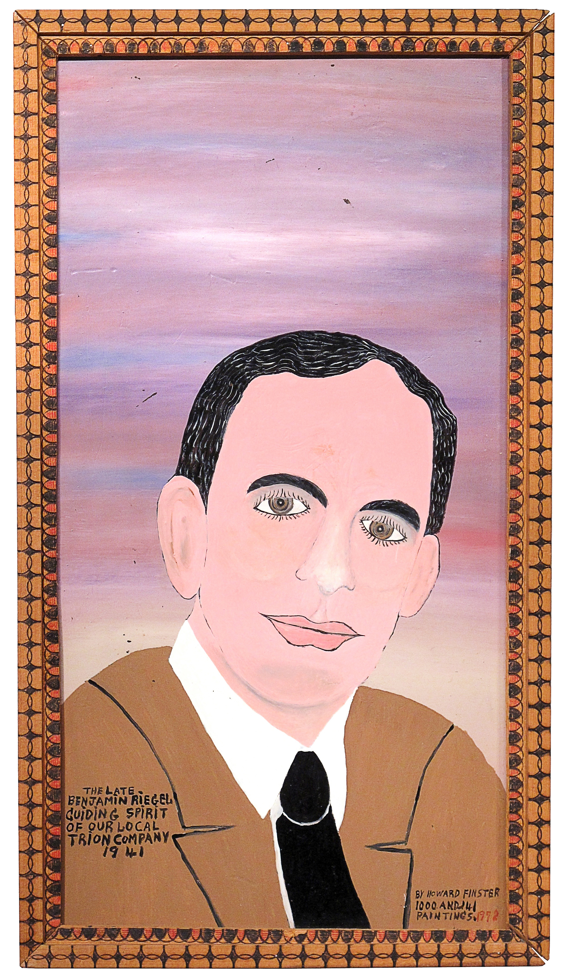 Ben Riegel by Howard Finster