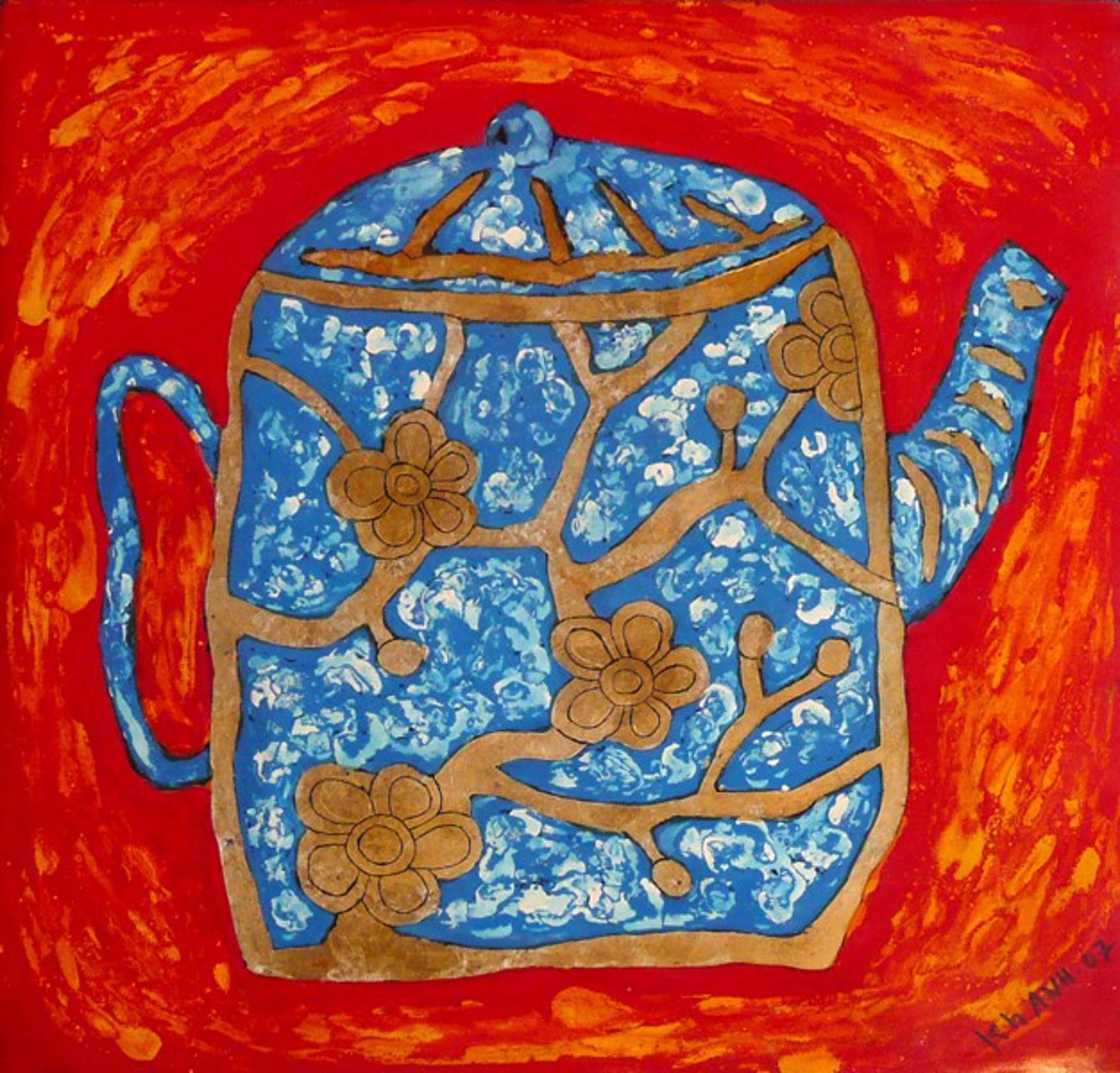 Blue Teapot by Bui Cong Khanh