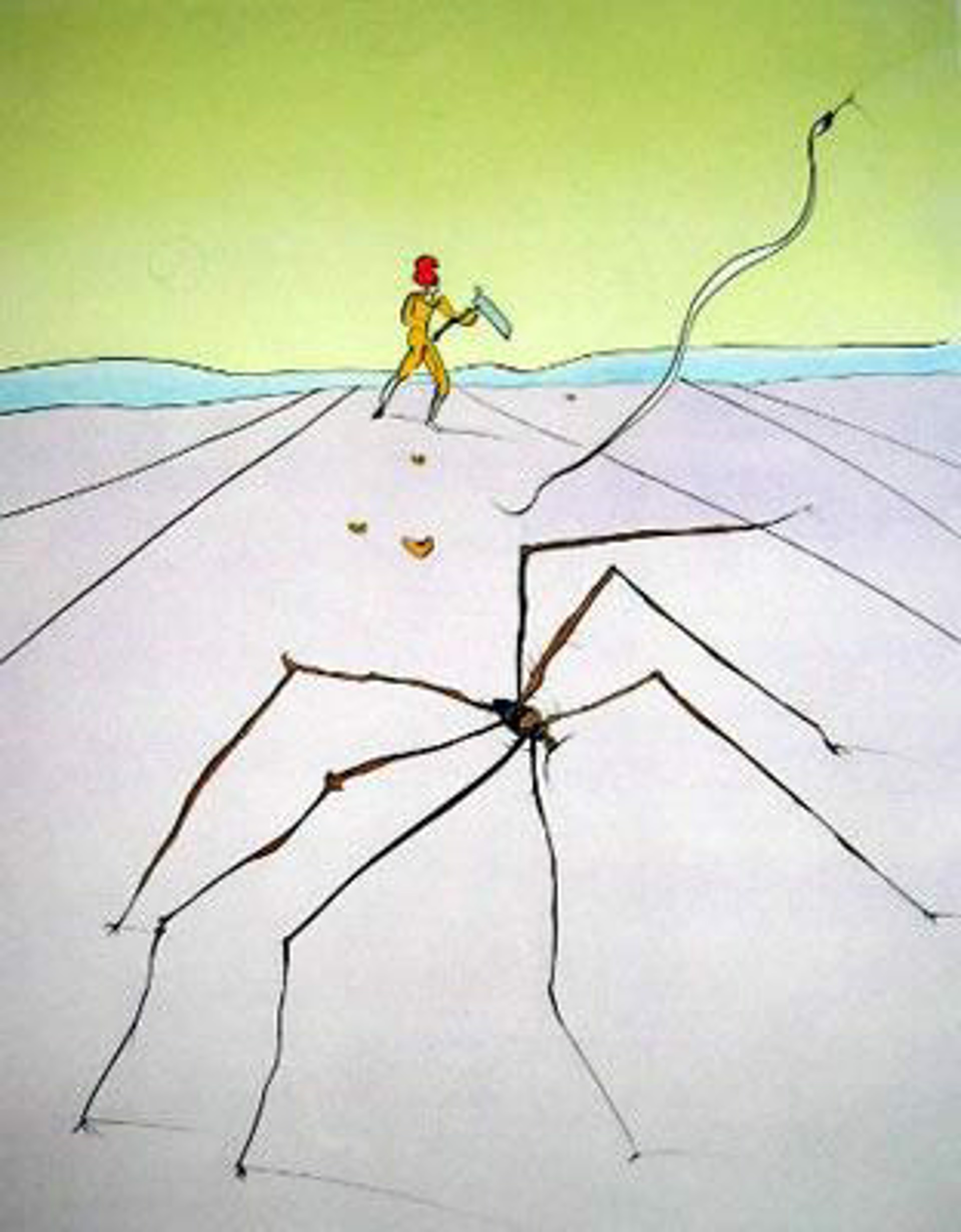 The Weaver Spider (Japanese Fairy Tales, suite of 10) by Salvador Dali