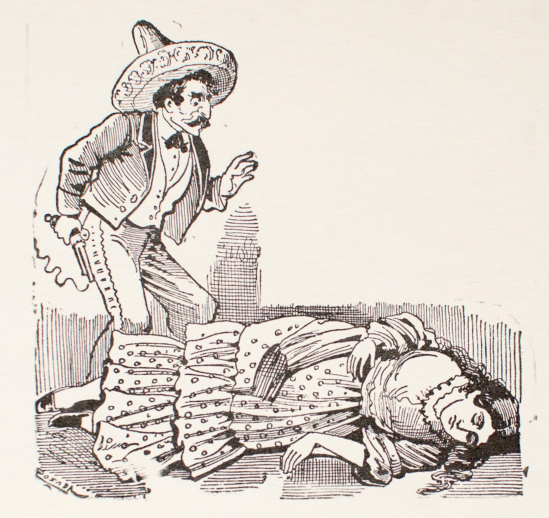 El Crimen de la Tragedia de Belen Galindo by José Guadalupe Posada (1852 - 1913)