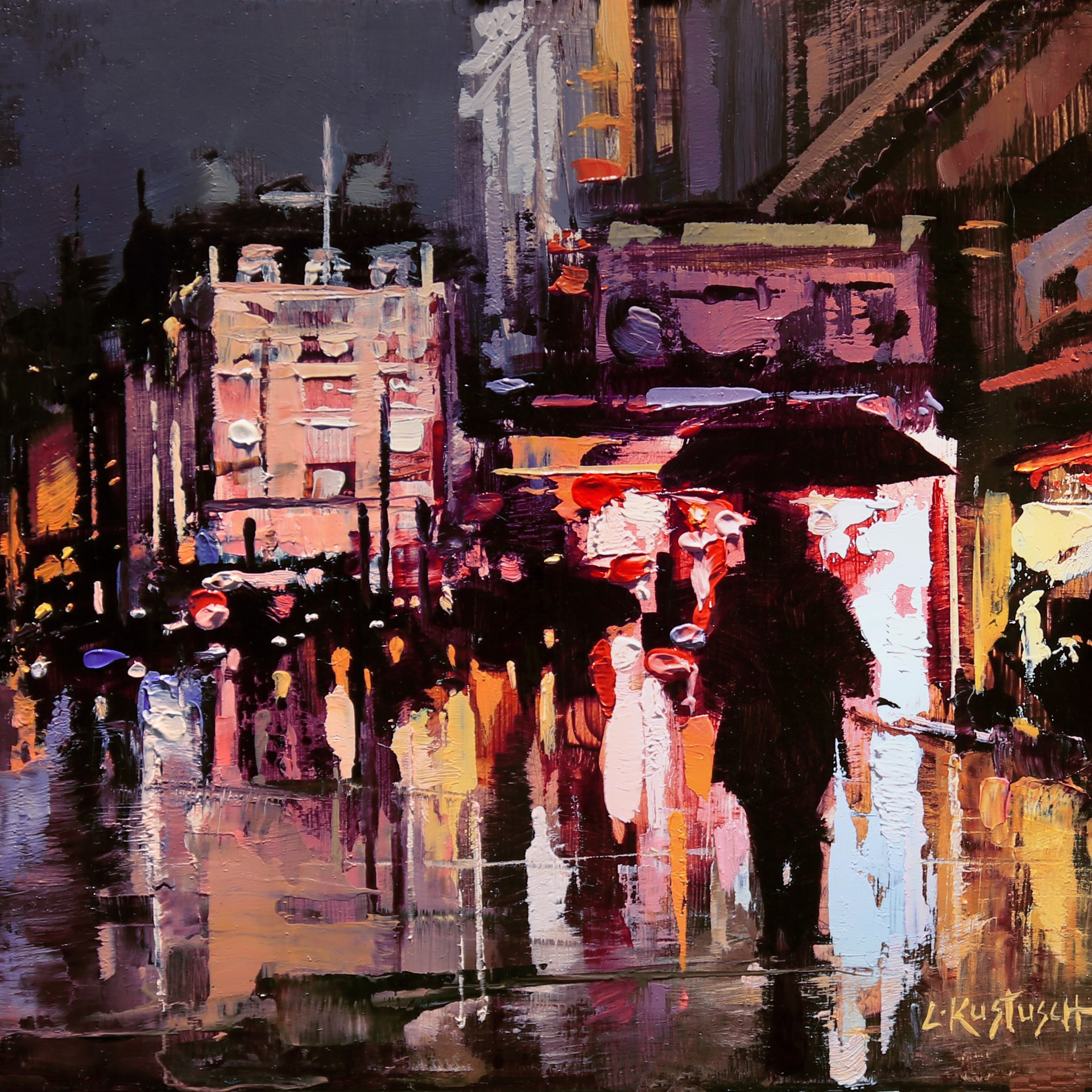 London Lights at Piccadilly Circus by Lindsey Kustusch