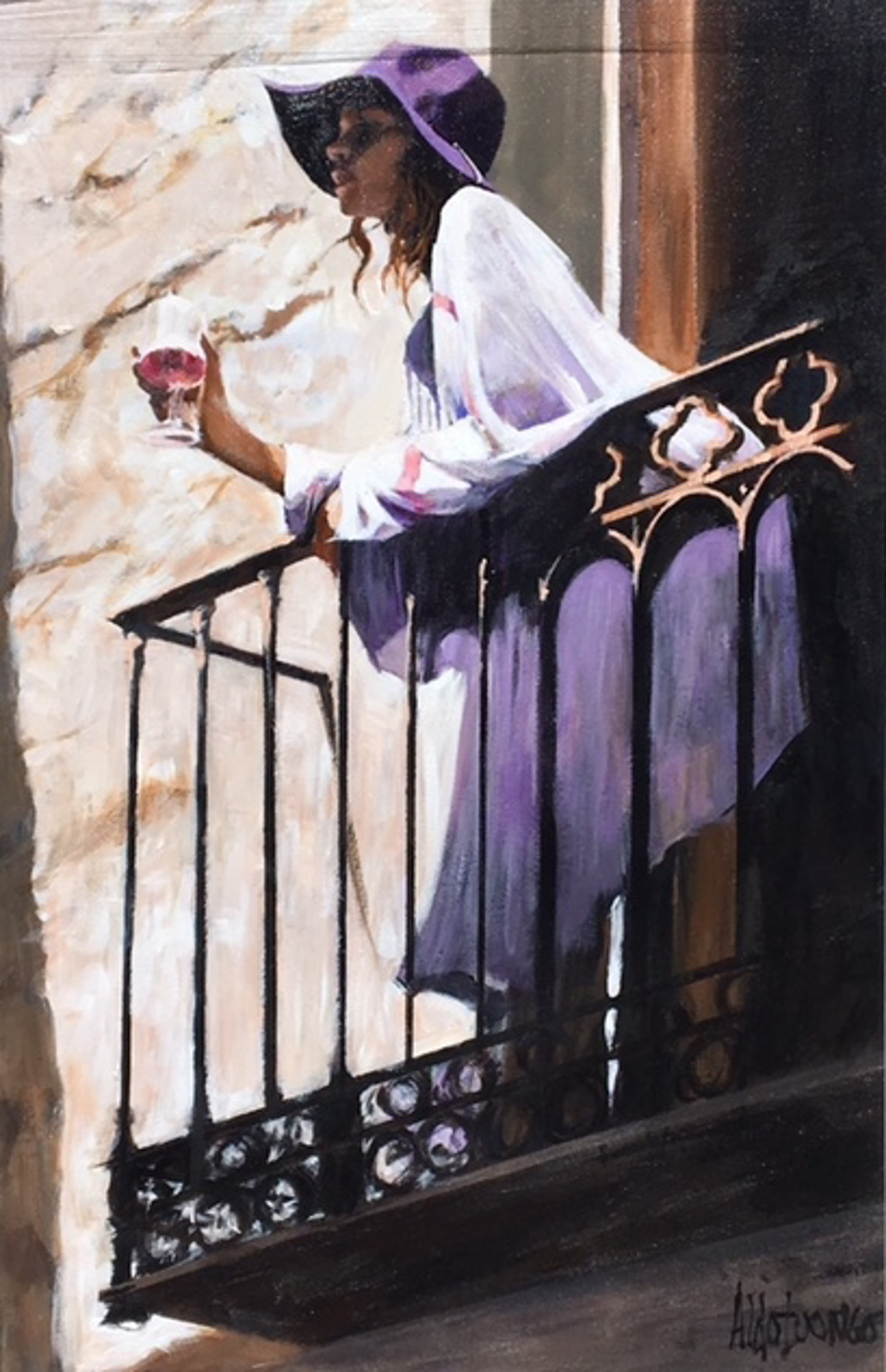 Peering at the Balcony by Aldo Luongo