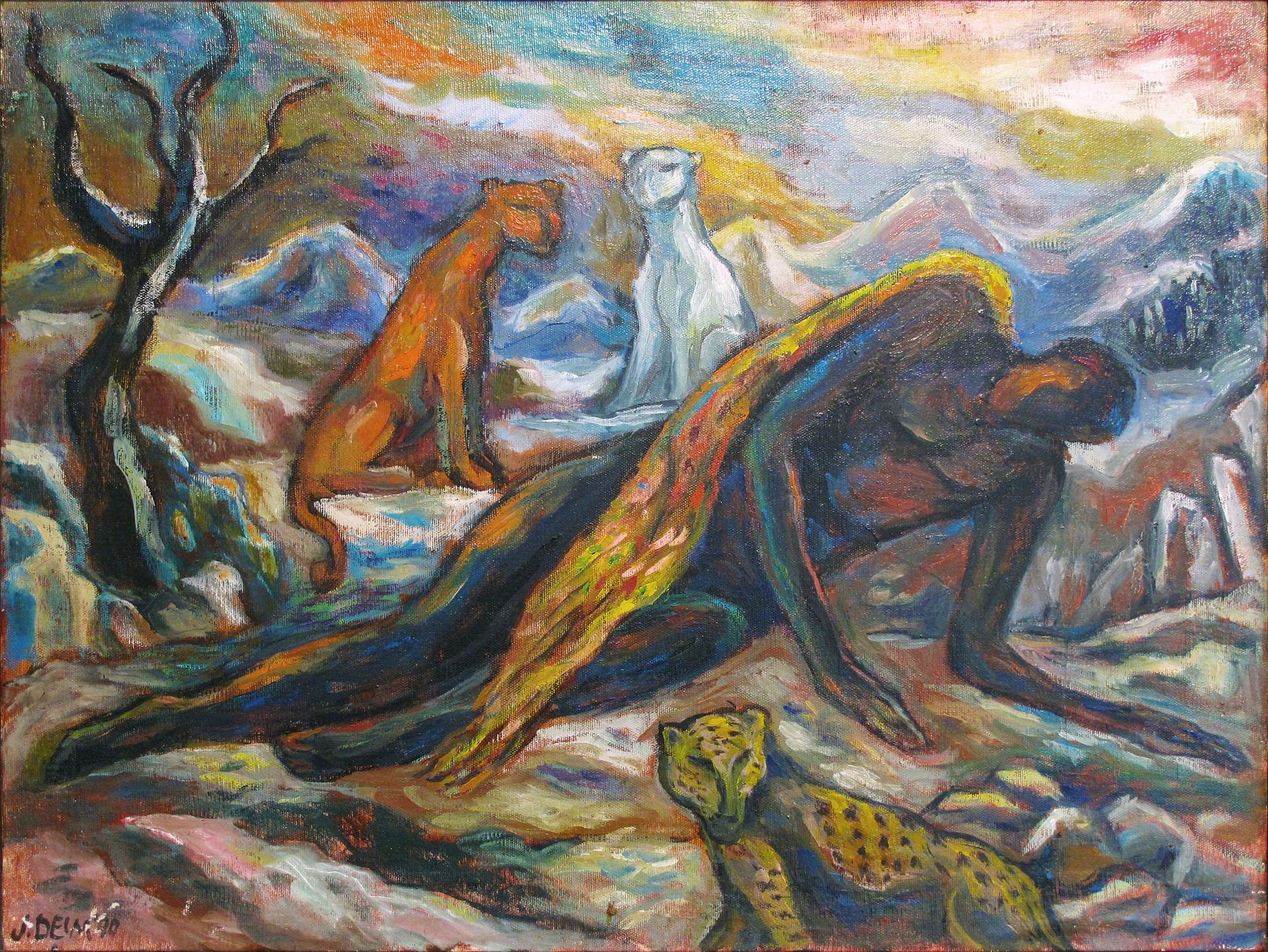 Angel Cayendo (Fallen Angel) by Judith Deim
