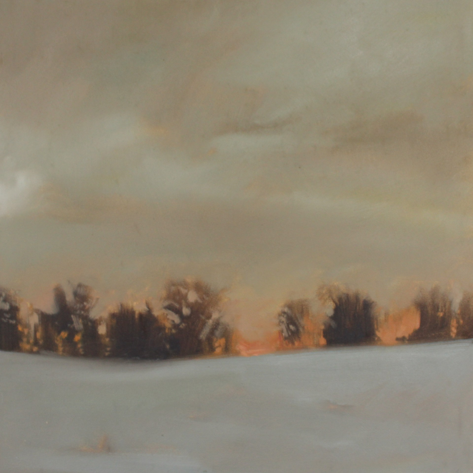 Sundown Snow (Study) by Megan Lightell