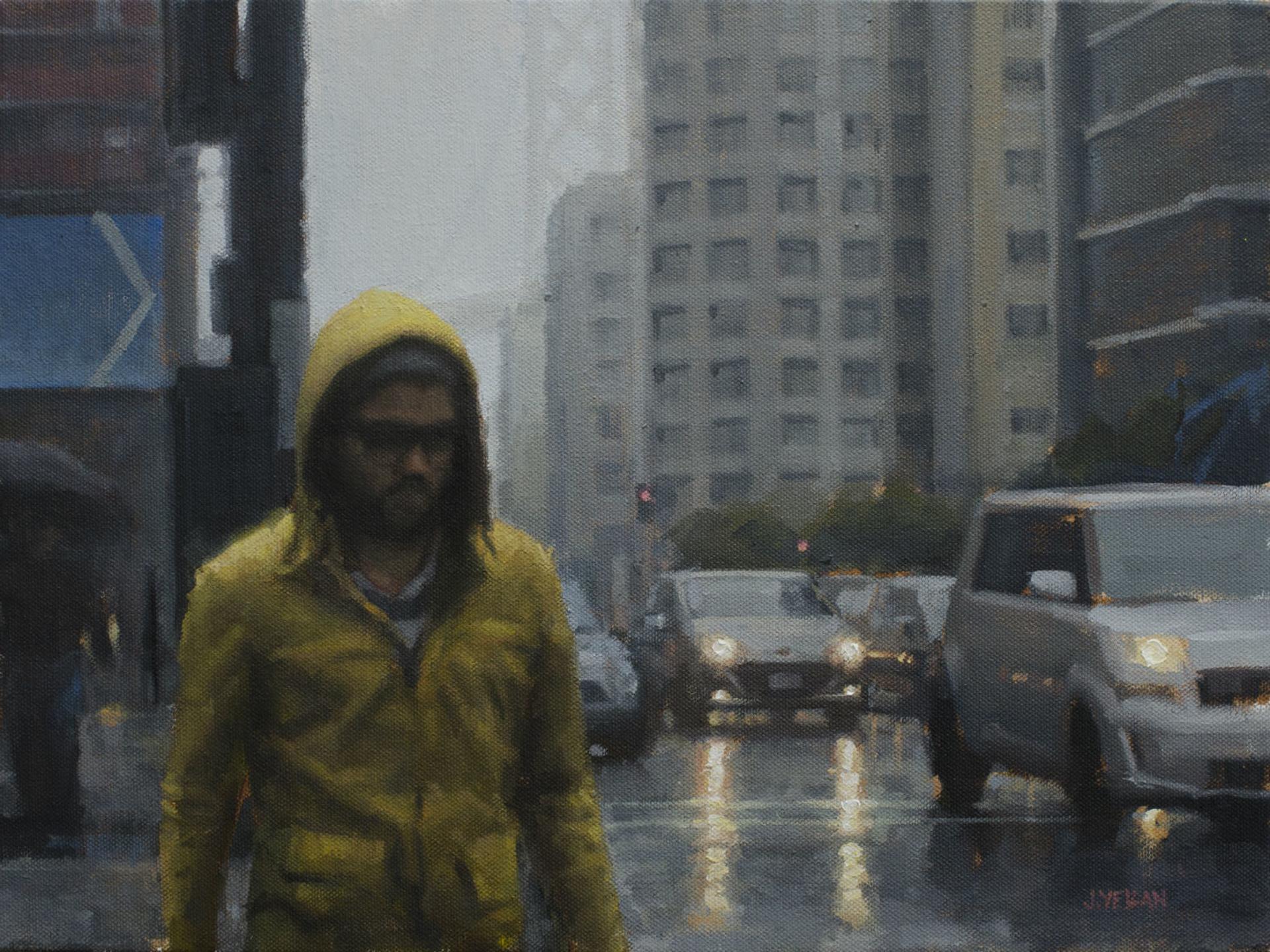 Yellow Raincoat Study by Joevic Yeban
