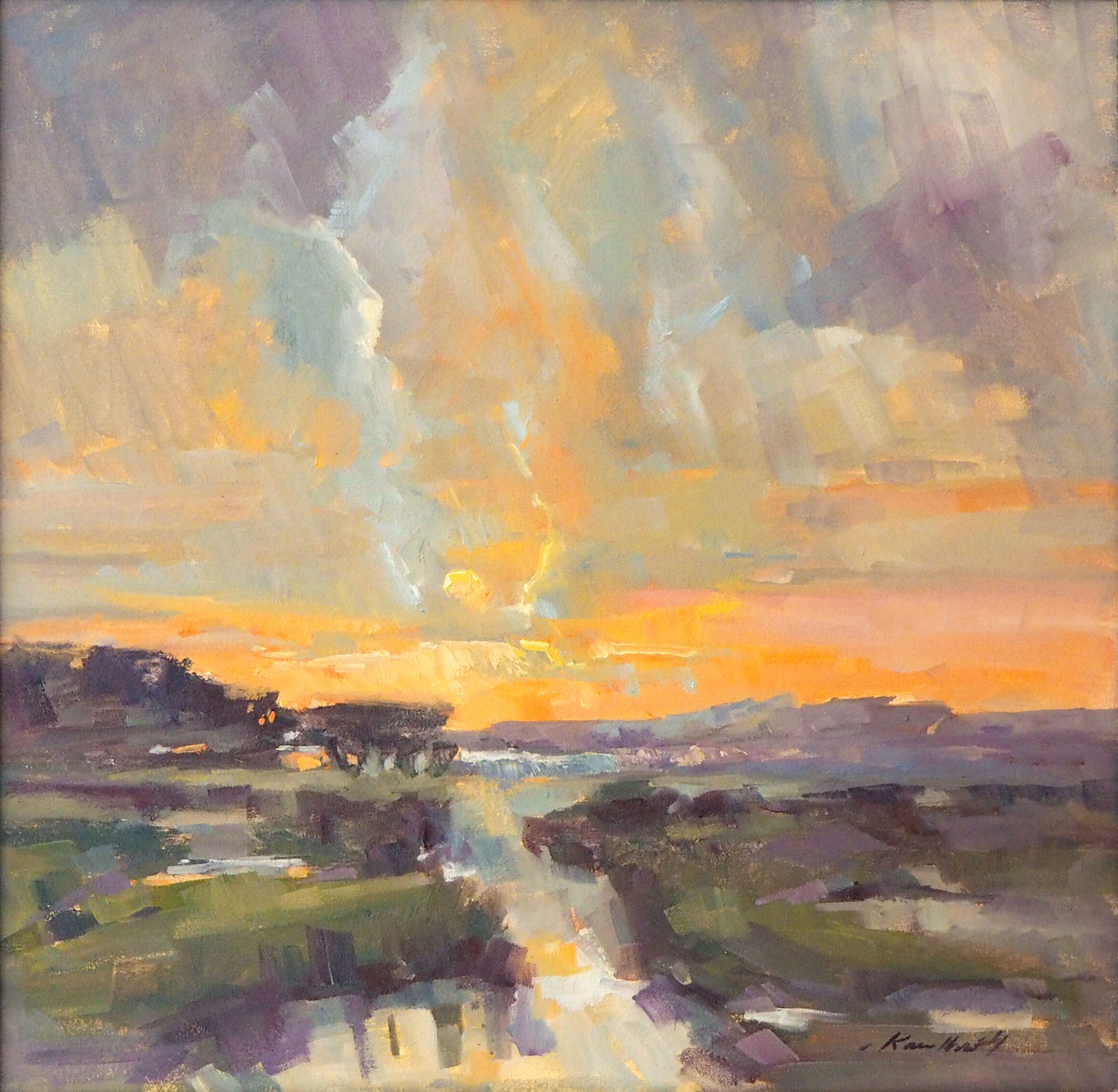 Fiery Sunset by Karen Hewitt Hagan