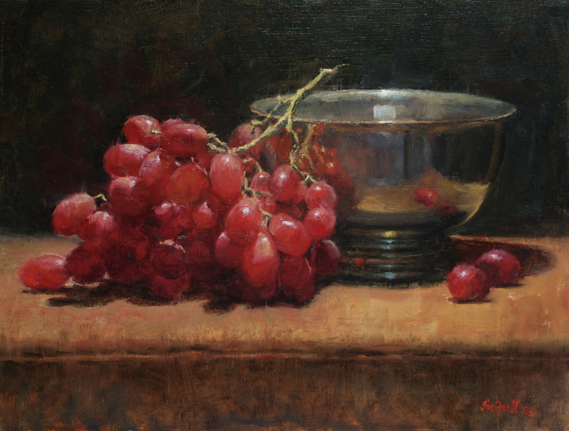 Grapes & Silver by Sue Foell, opa