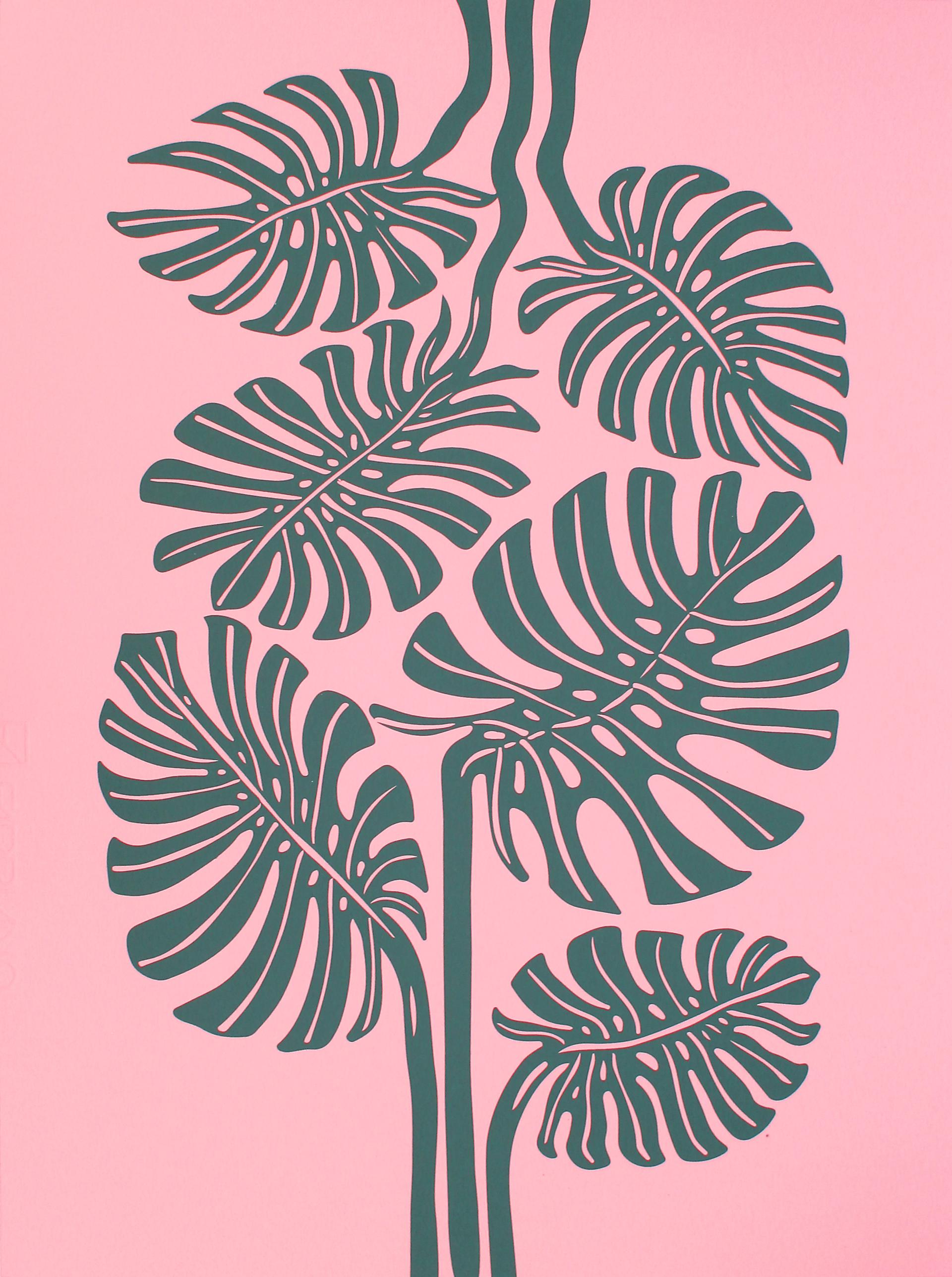 Monstera (Pink/Green) by Mirel Fraga