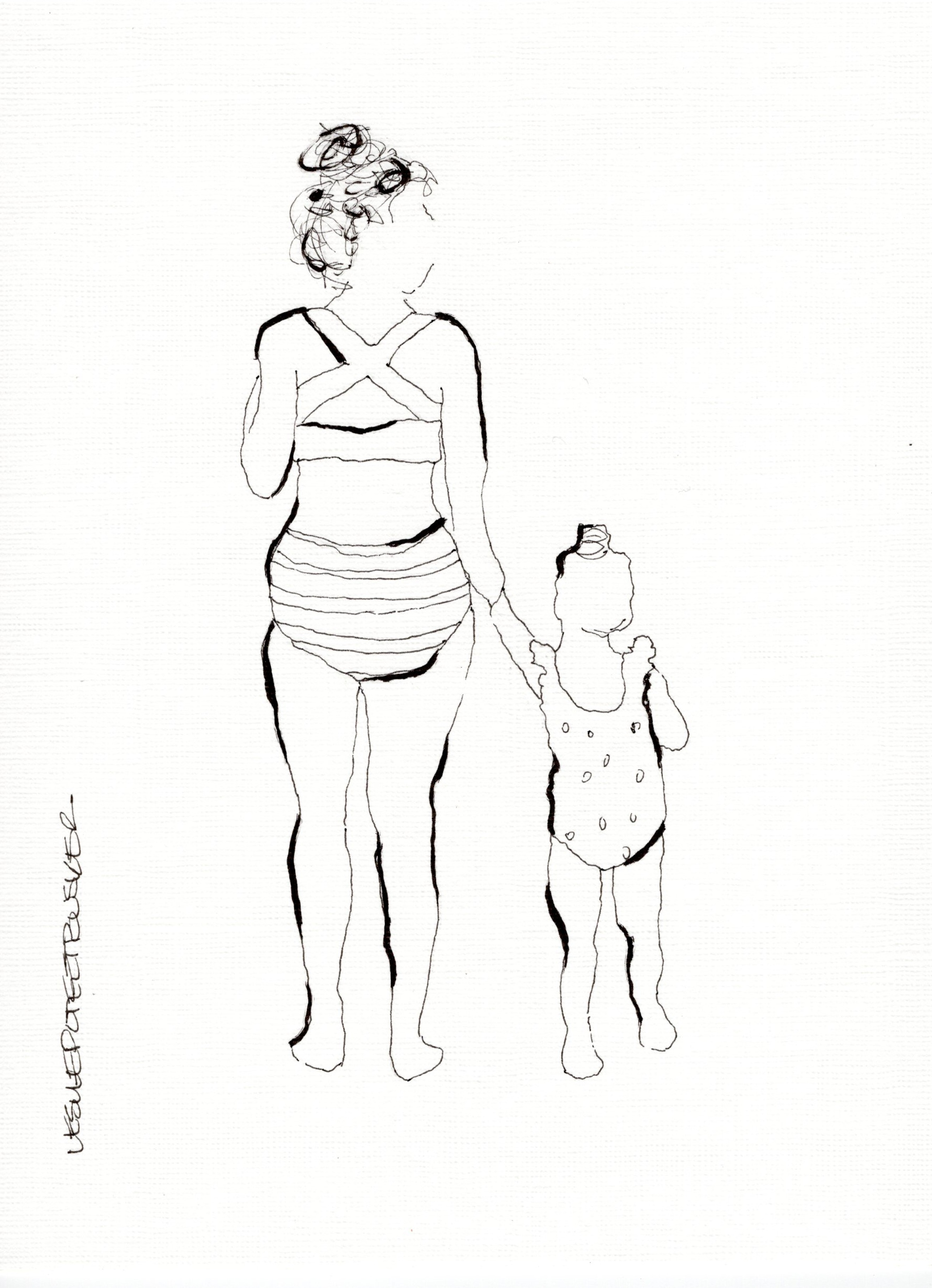 Mother and Child No. 6 by Leslie Poteet Busker