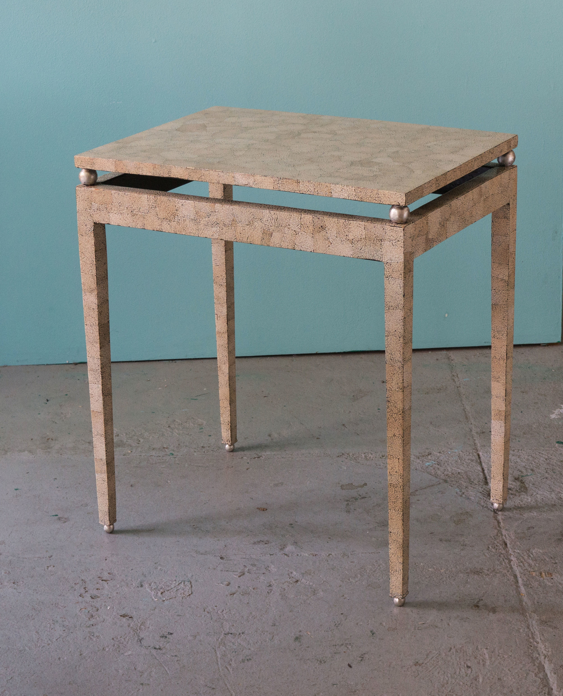 Eggshell table by Thierry Voeltzel
