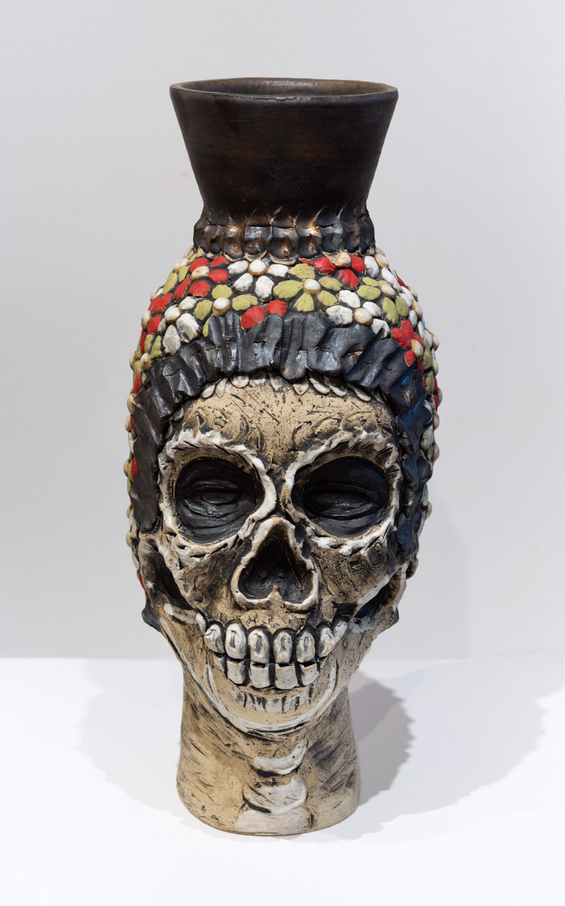 Calaca Vase by George Rodriguez