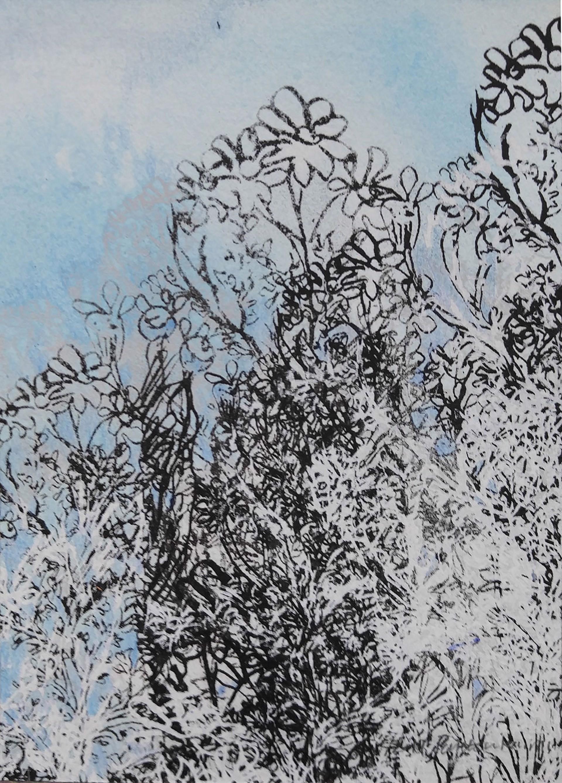 Blue Garden iv by Pantea Karimi
