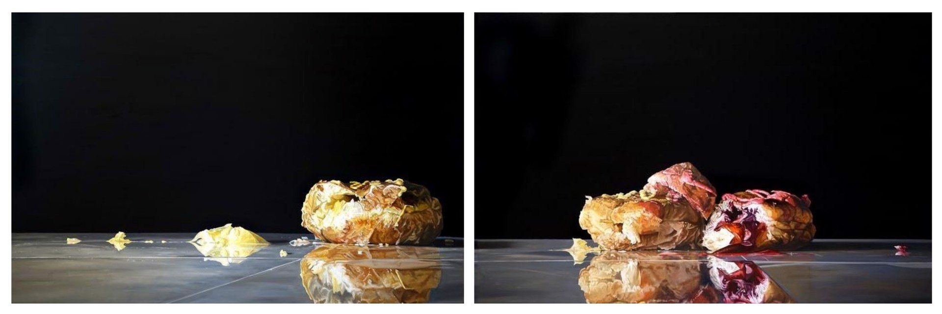 Ooze (Triptych, Diptych, or Single) by Denise Stewart-Sanabria