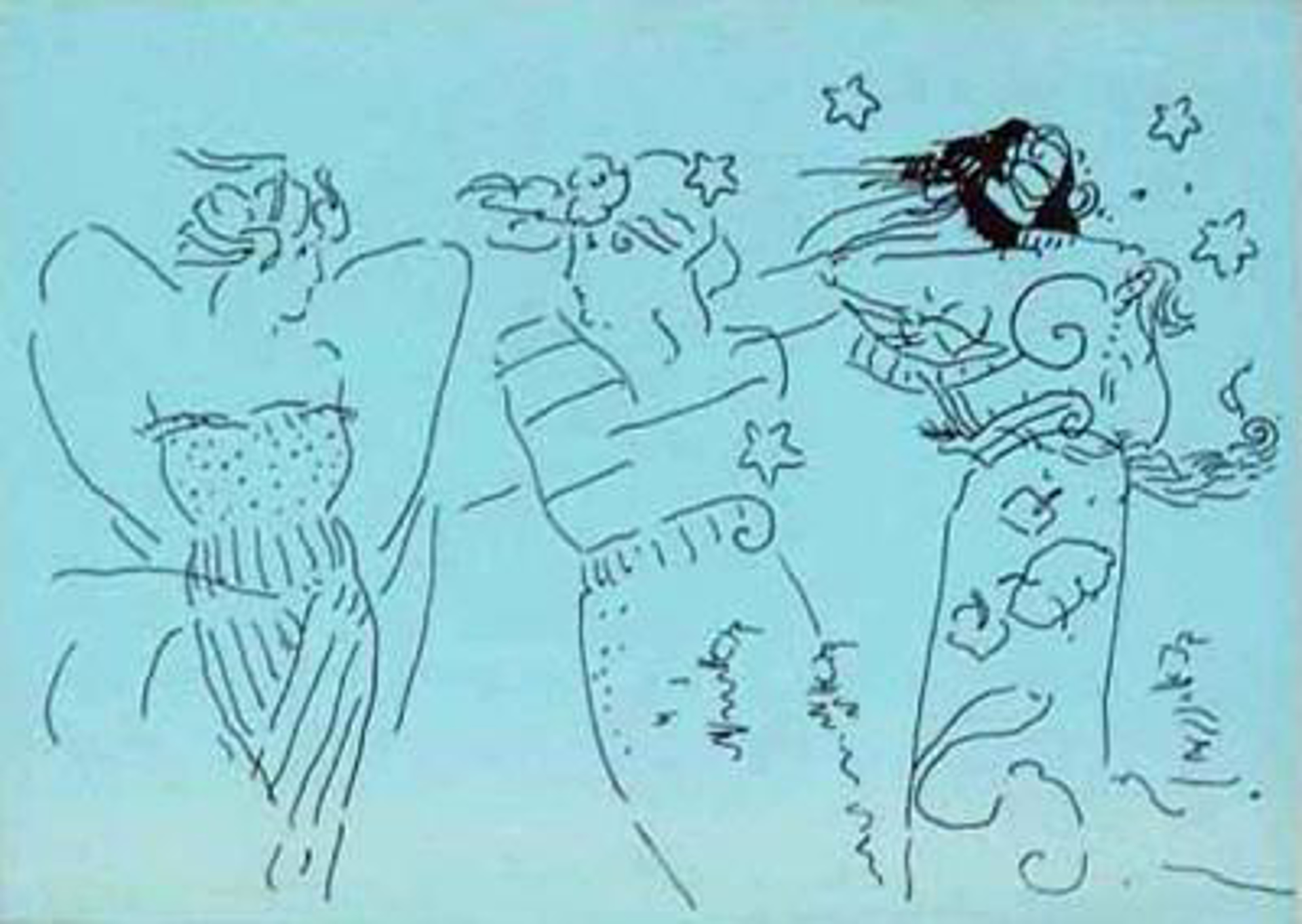 Angels 4 (Suite of Six) by Peter Max