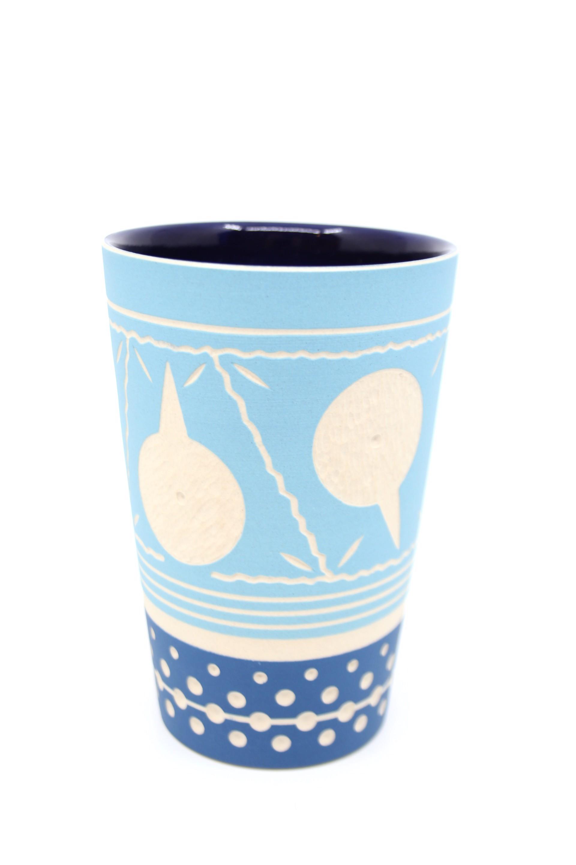 Aqua/Blue Tall Cup by Chris Casey