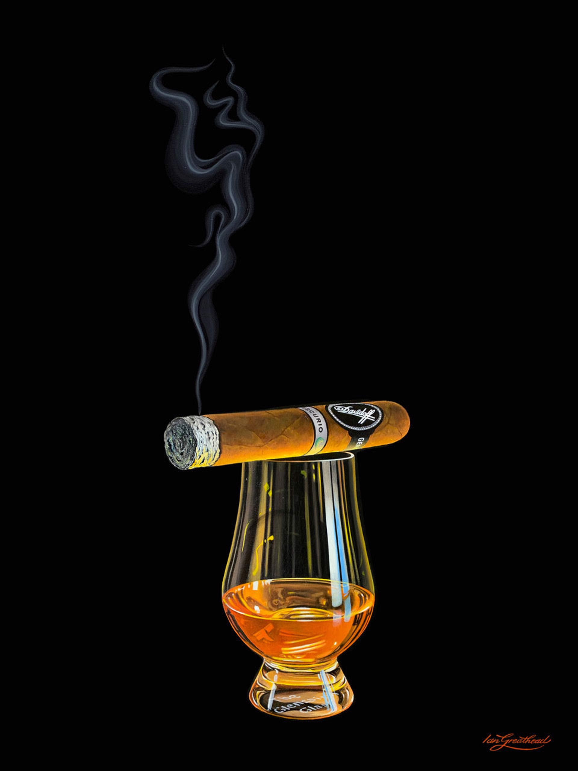 Davidoff and Bourbon by Ian Greathead